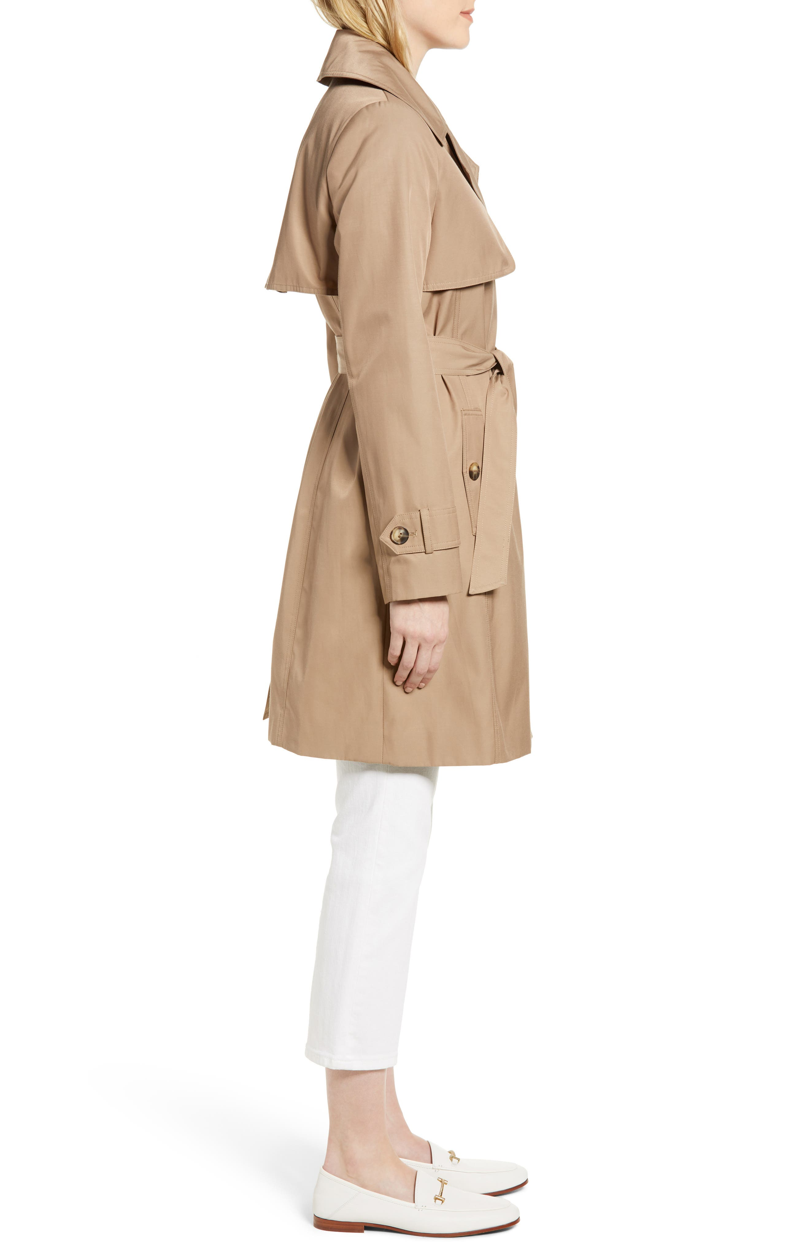 Midi Trench Coat,                             Alternate thumbnail 3, color,                             299