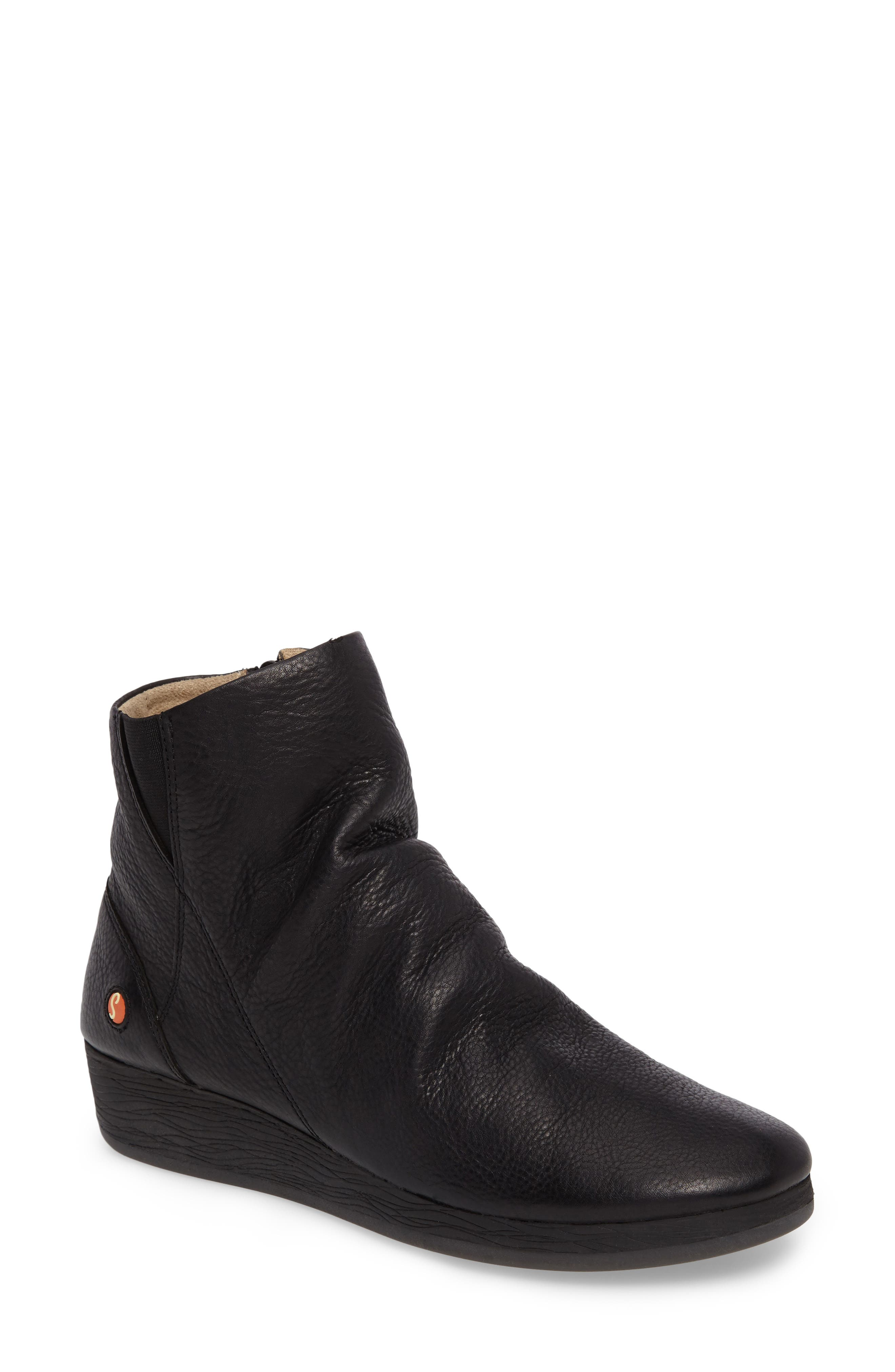 Ayo Low Wedge Bootie,                             Main thumbnail 1, color,                             001