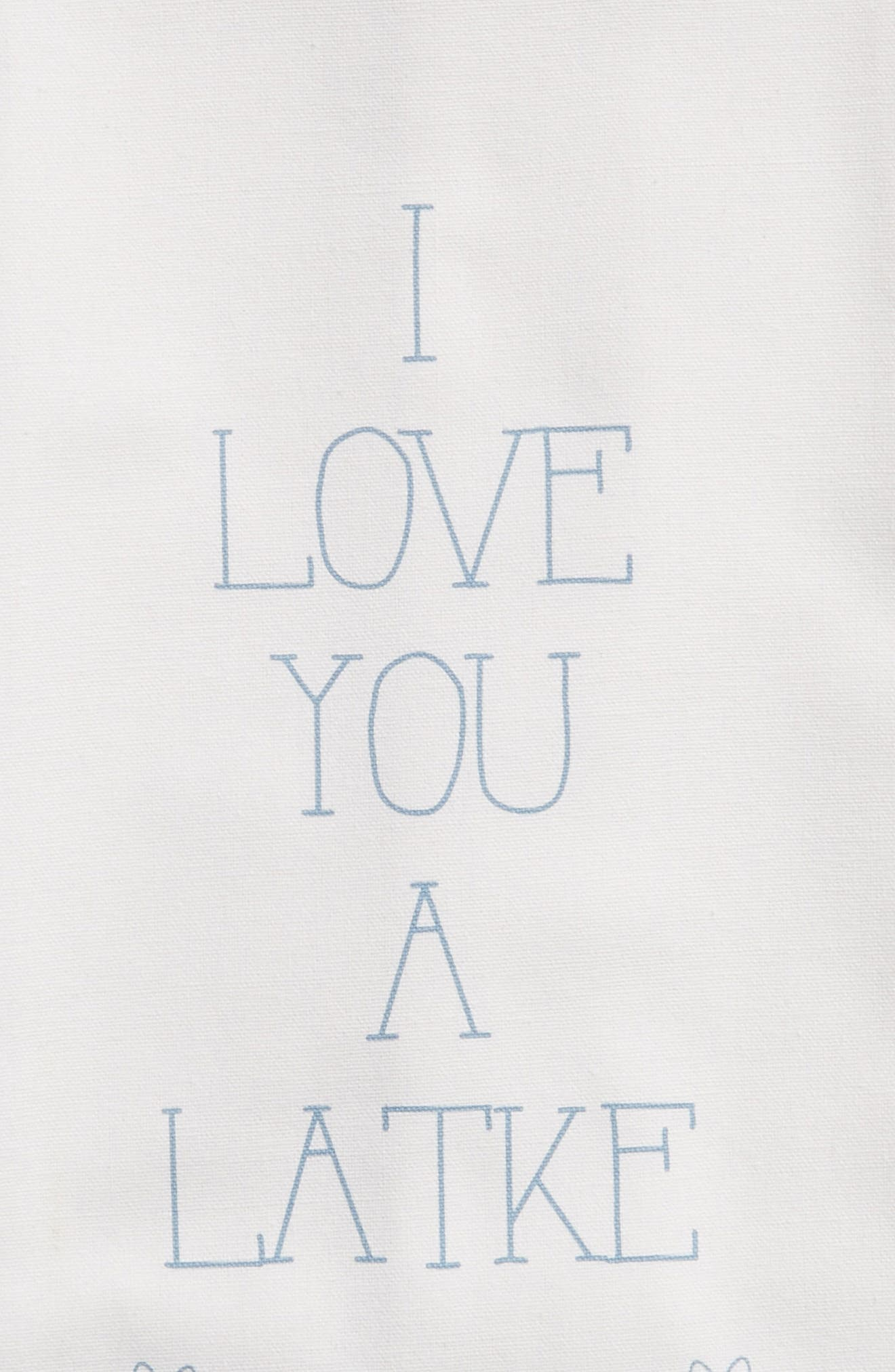 Love You a Latke Set of 2 Dishtowels,                             Alternate thumbnail 2, color,                             100