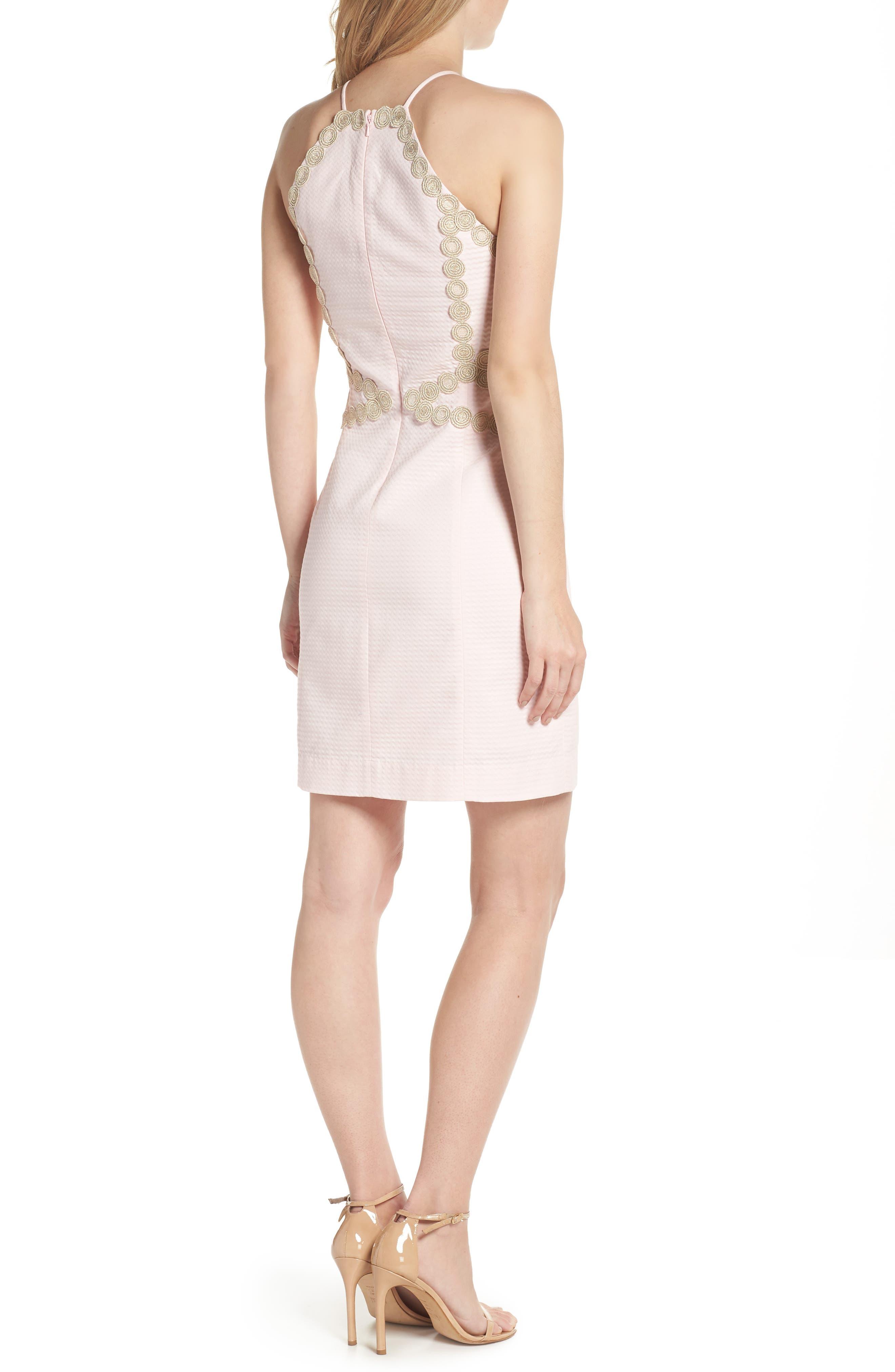 Pearl Shift Dress,                             Alternate thumbnail 2, color,                             PARADISE TINT