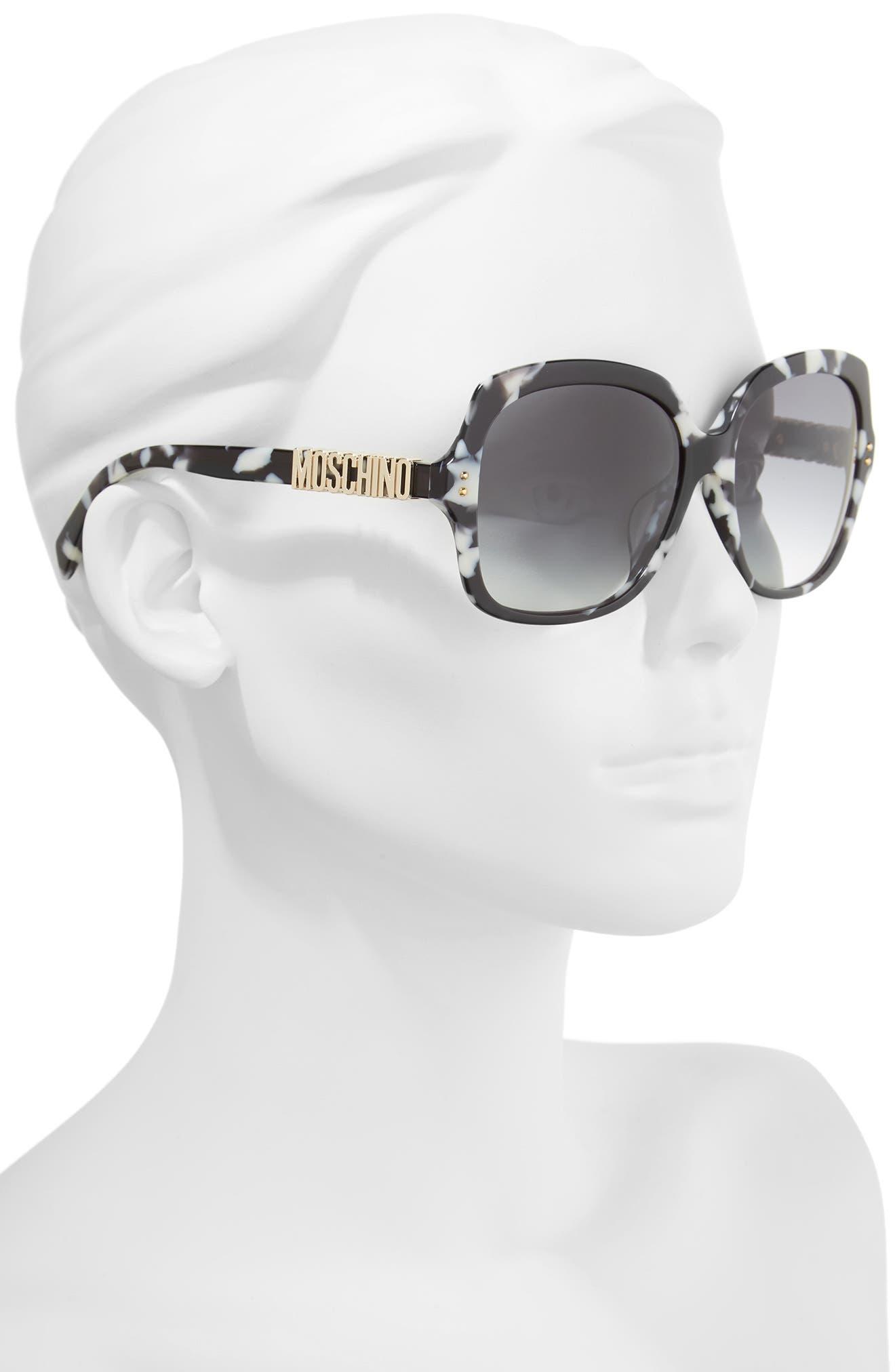 57mm Oversized Polarized Sunglasses,                             Alternate thumbnail 6, color,