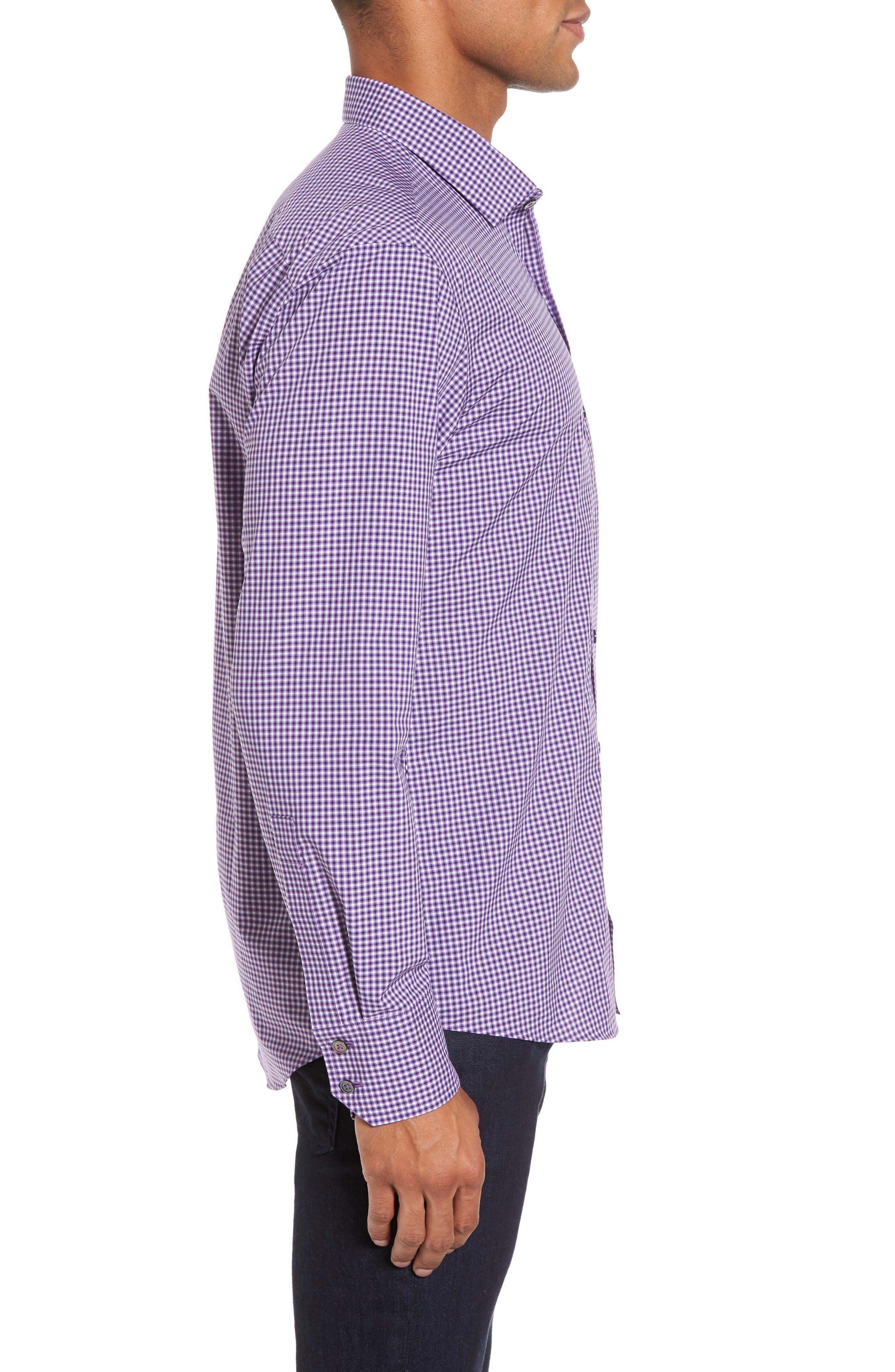 Pawlata Slim Fit Check Sport Shirt,                             Alternate thumbnail 3, color,                             500