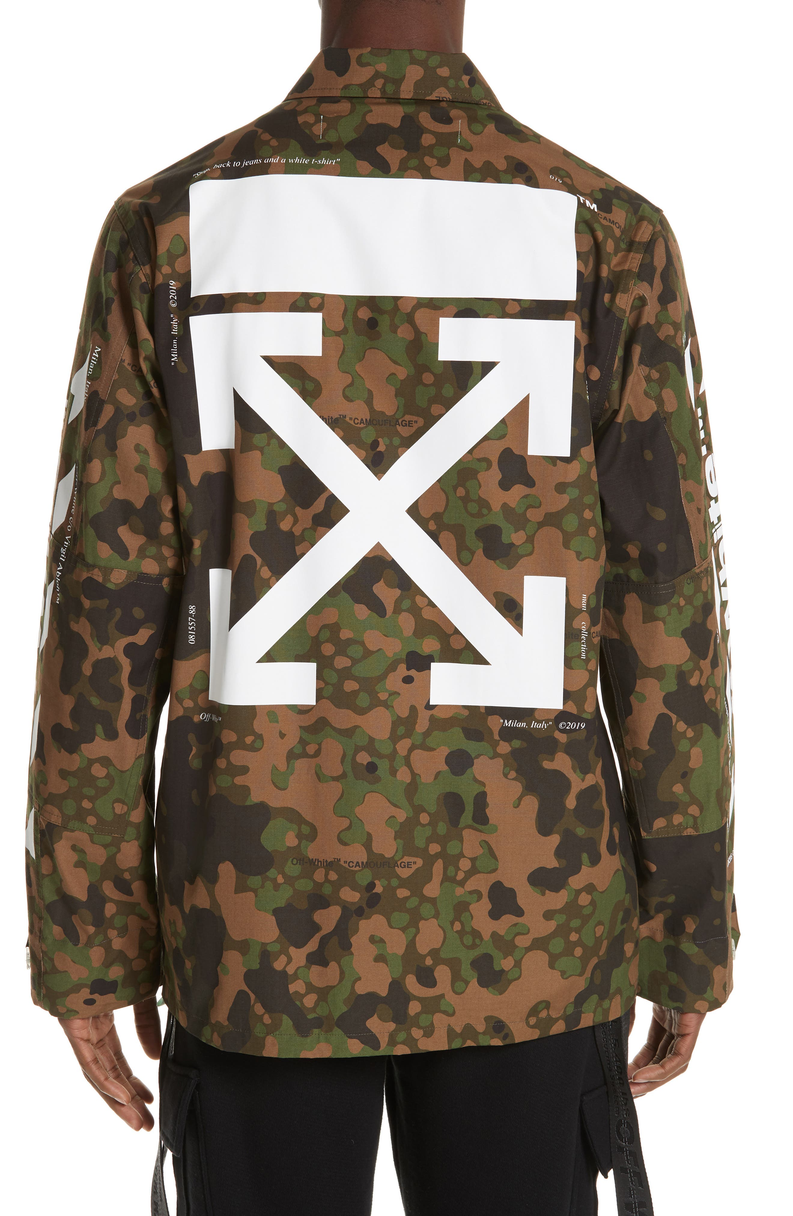 OFF-WHITE,                             Camo Field Jacket,                             Alternate thumbnail 2, color,                             CAMOU WHITE