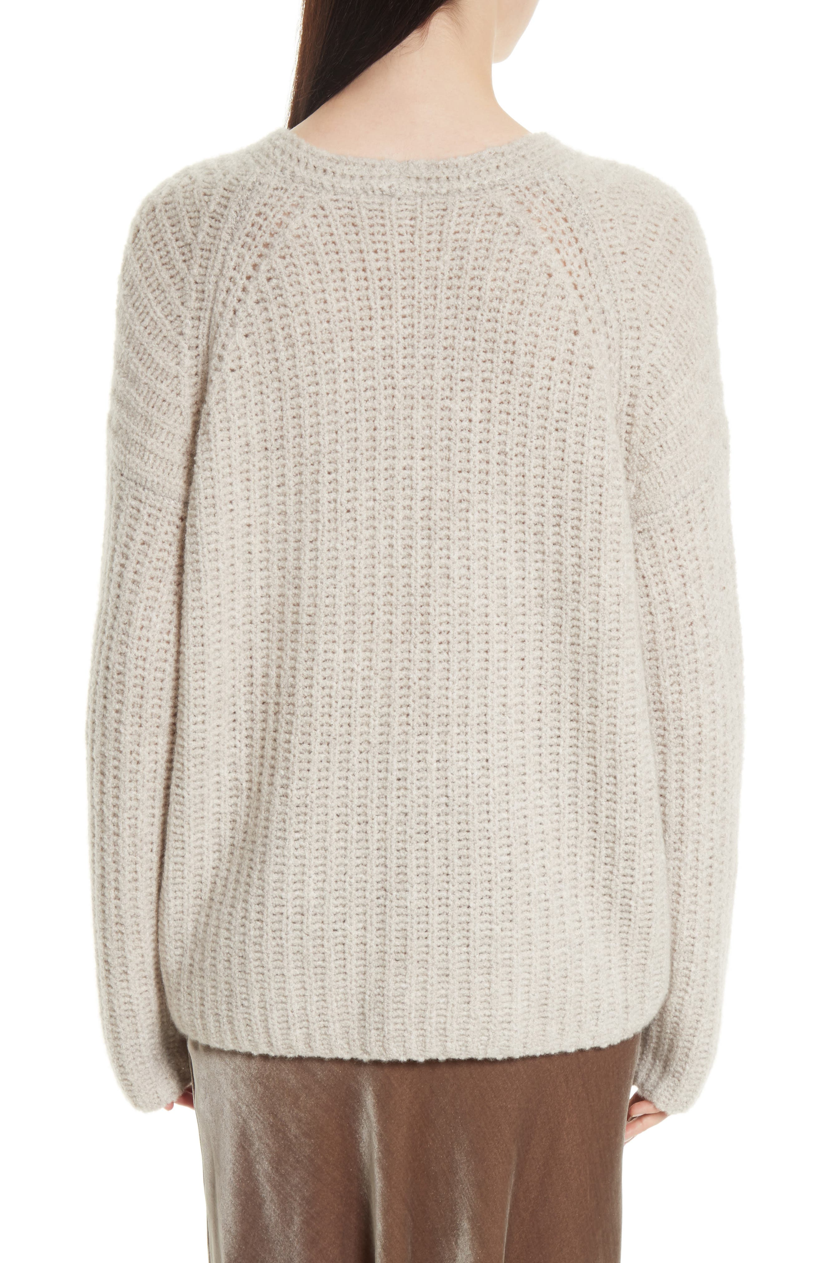 Deep V-Neck Cashmere Blend Sweater,                             Alternate thumbnail 2, color,                             255