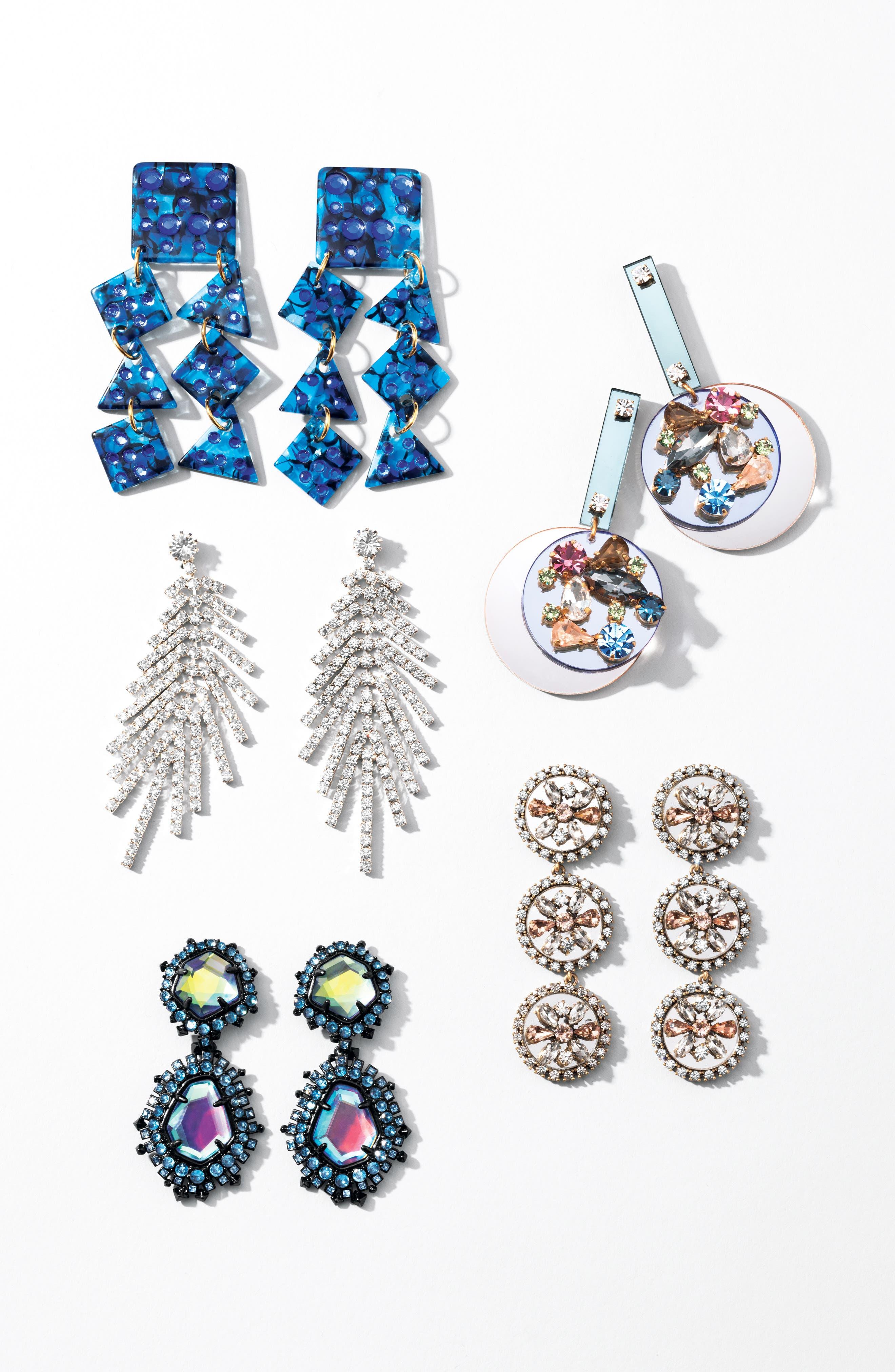 Spotlight Chandelier Earrings,                             Alternate thumbnail 3, color,                             SAPPHIRE