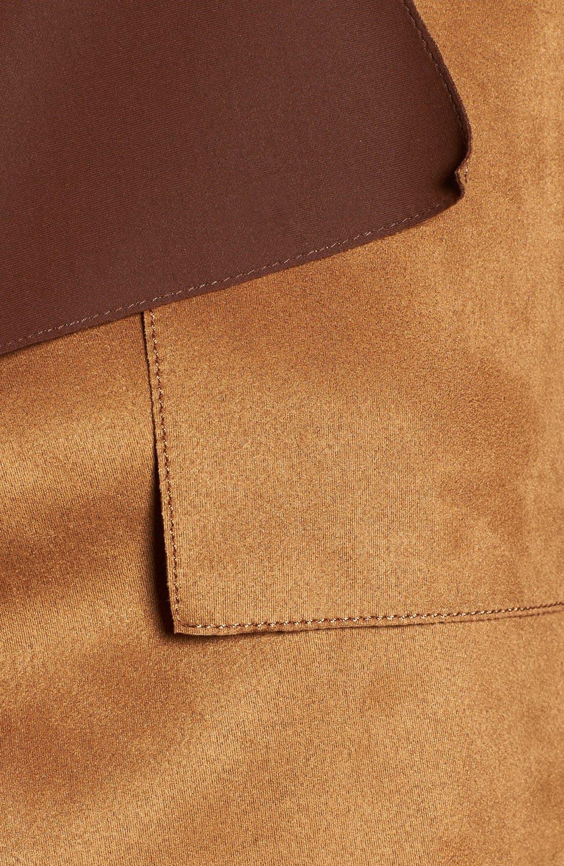 Faux Suede Long Vest,                             Alternate thumbnail 5, color,                             259