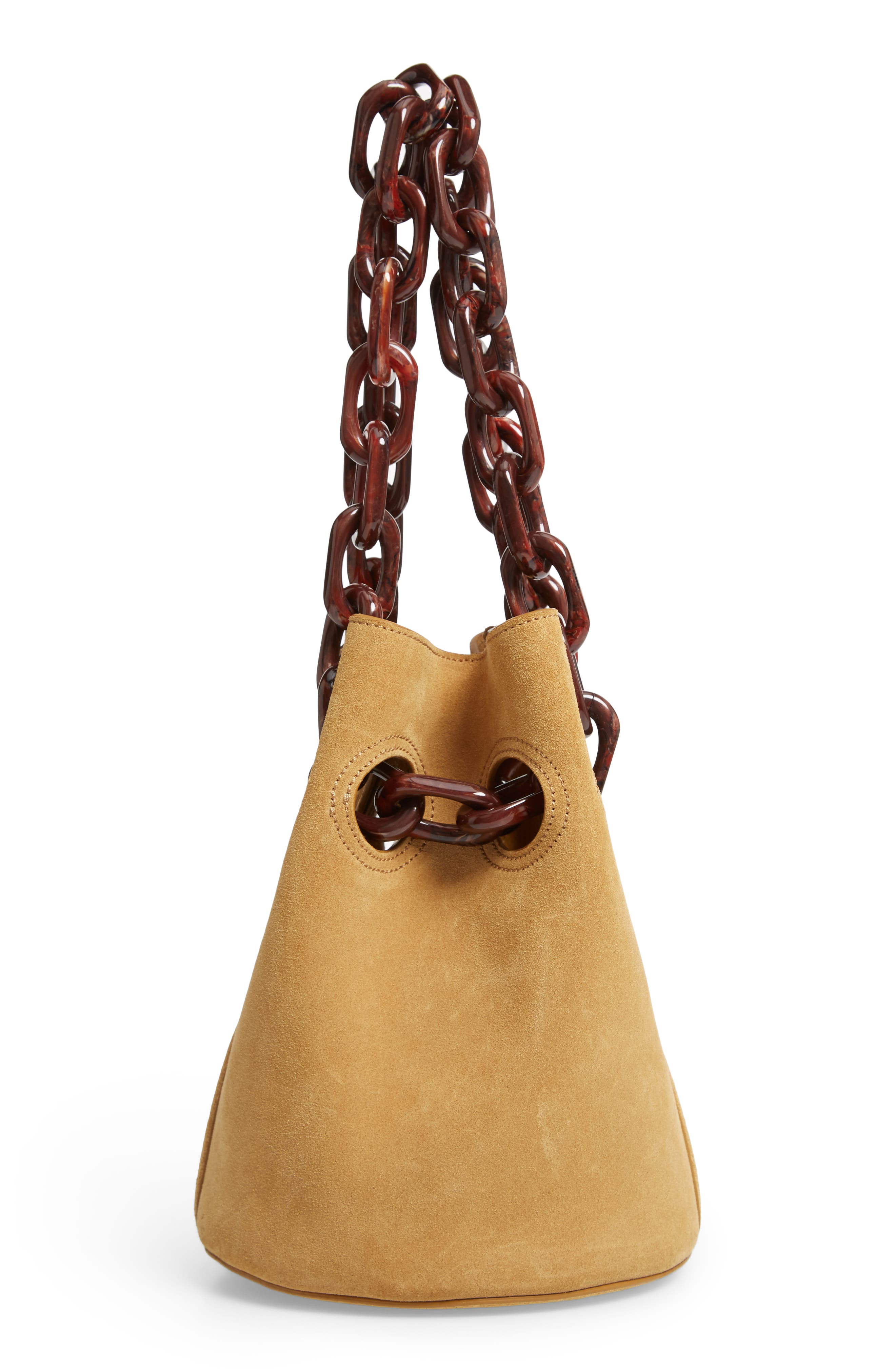 Goodall Leather Bucket Bag,                             Alternate thumbnail 5, color,                             BEIGE