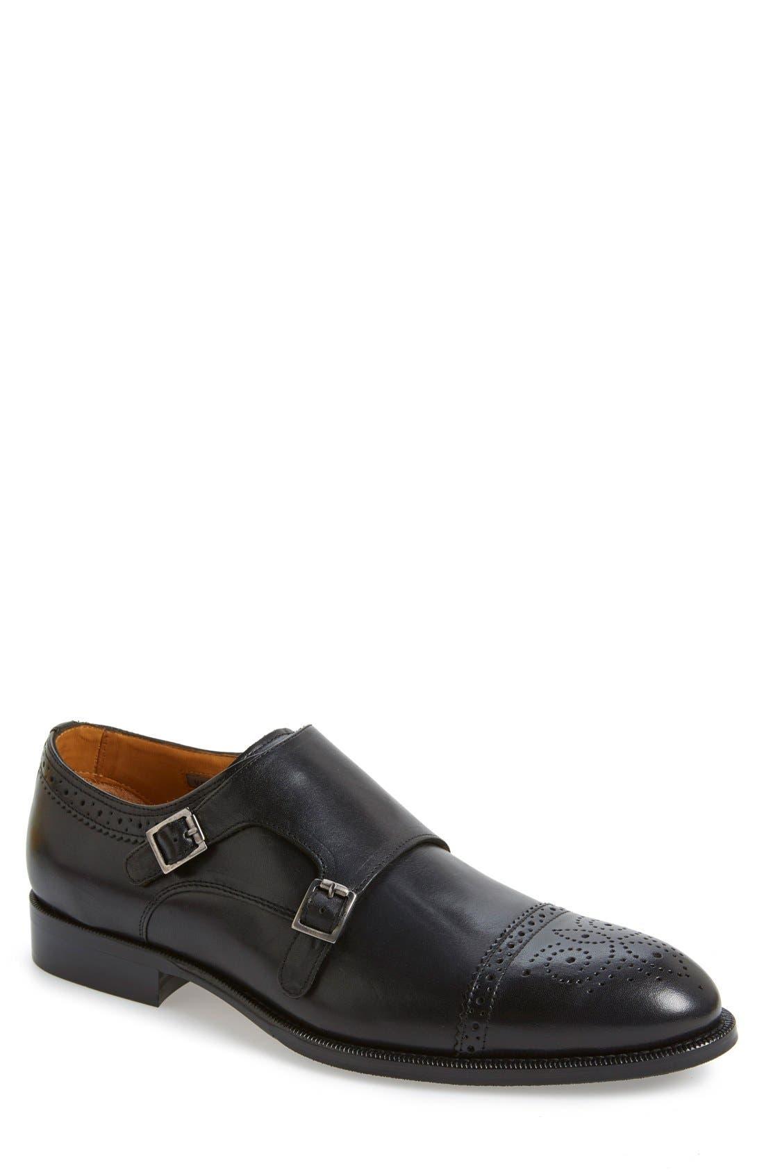 'Briant' Double Monk Strap Shoe,                             Main thumbnail 2, color,