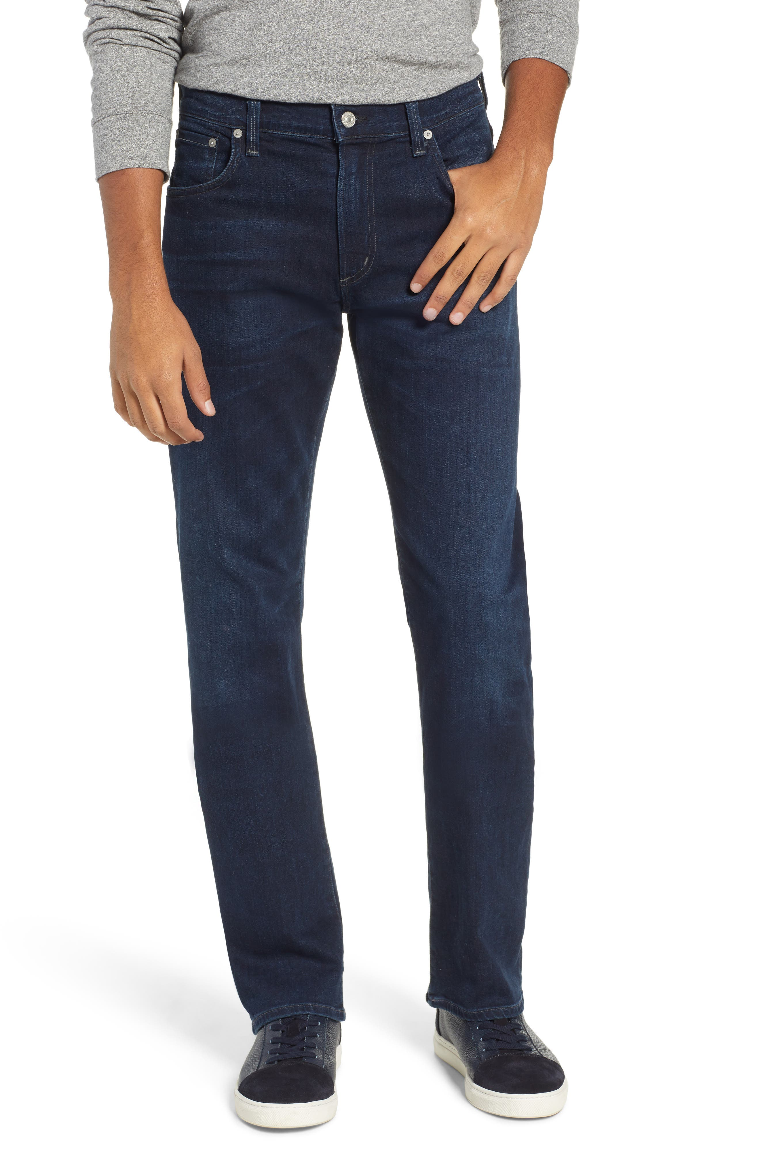 CITIZENS OF HUMANITY Perform Sid Straight Leg Jeans, Main, color, MOONSTONE