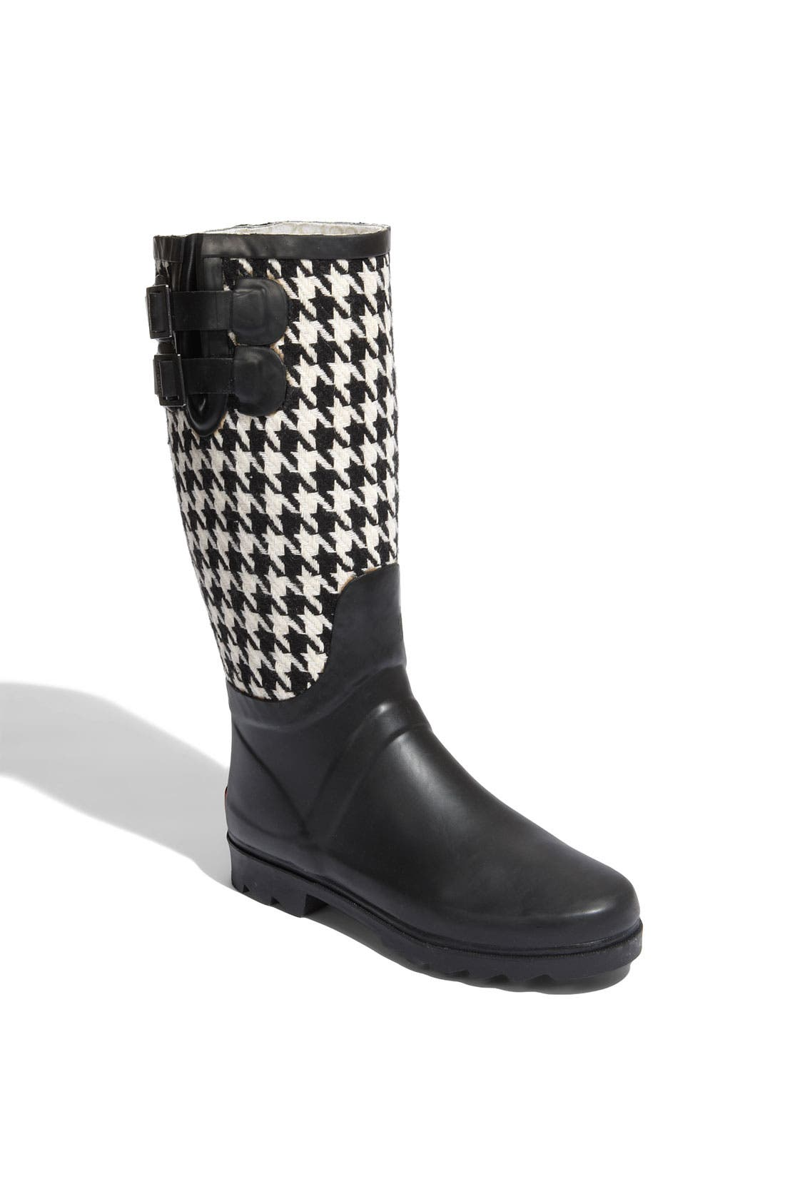 Signature Houndstooth Rain Boot, Main, color, 001
