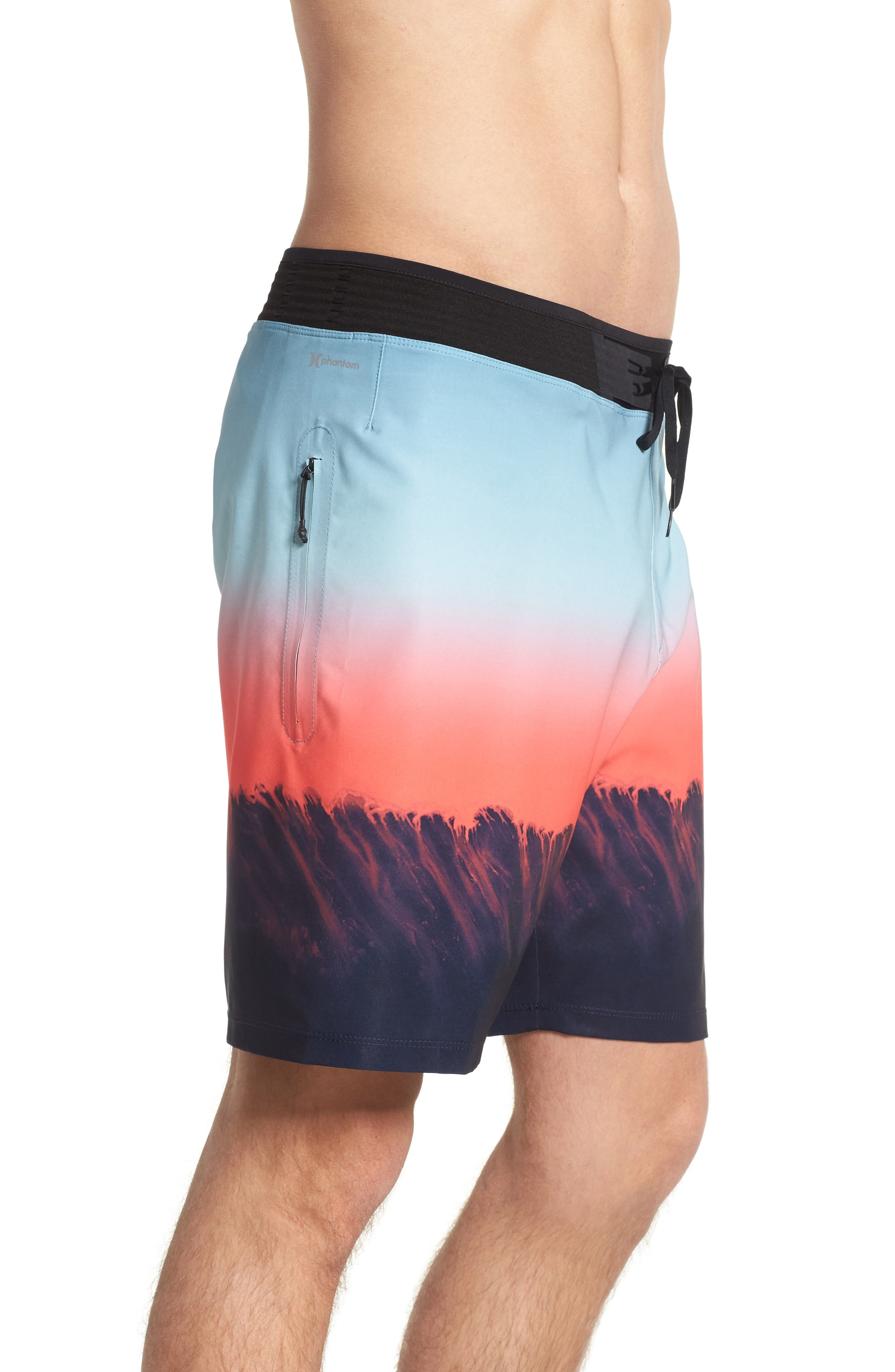 Phantom Hyperweave 3.0 Estuary Board Shorts,                             Alternate thumbnail 3, color,                             OBSIDIAN
