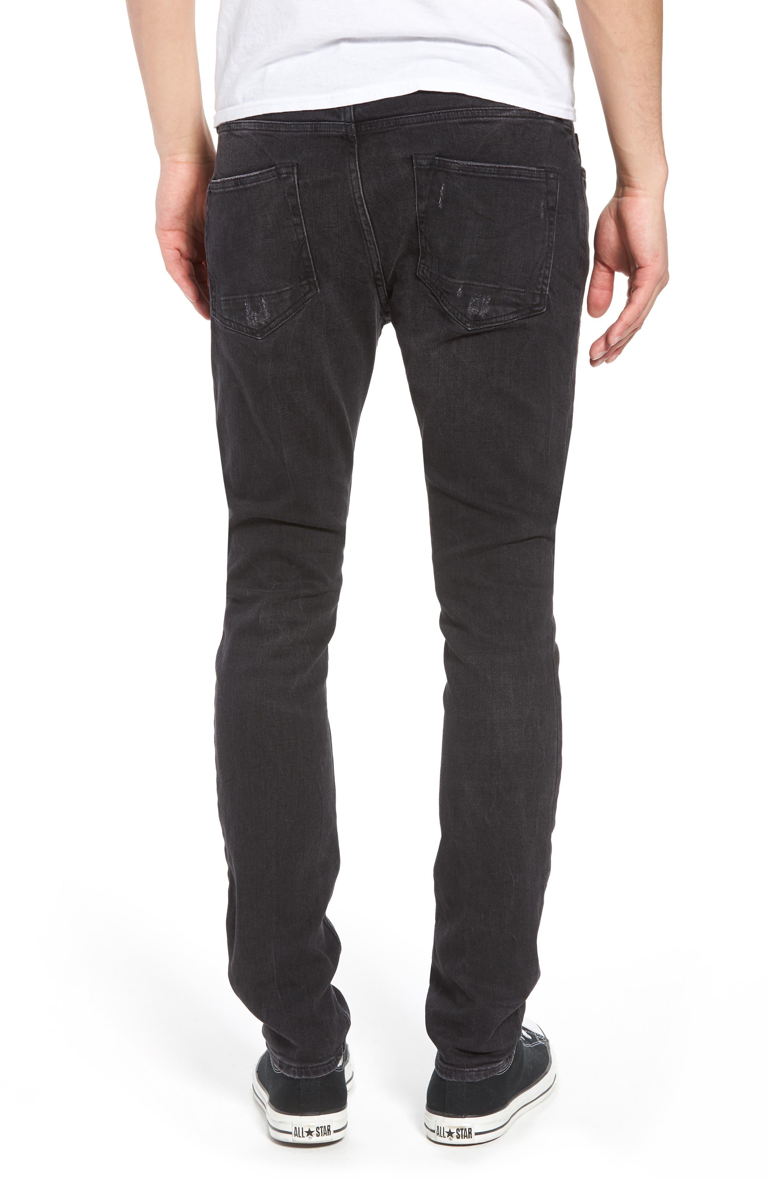 Raveline Skinny Fit Jeans,                             Alternate thumbnail 2, color,                             001