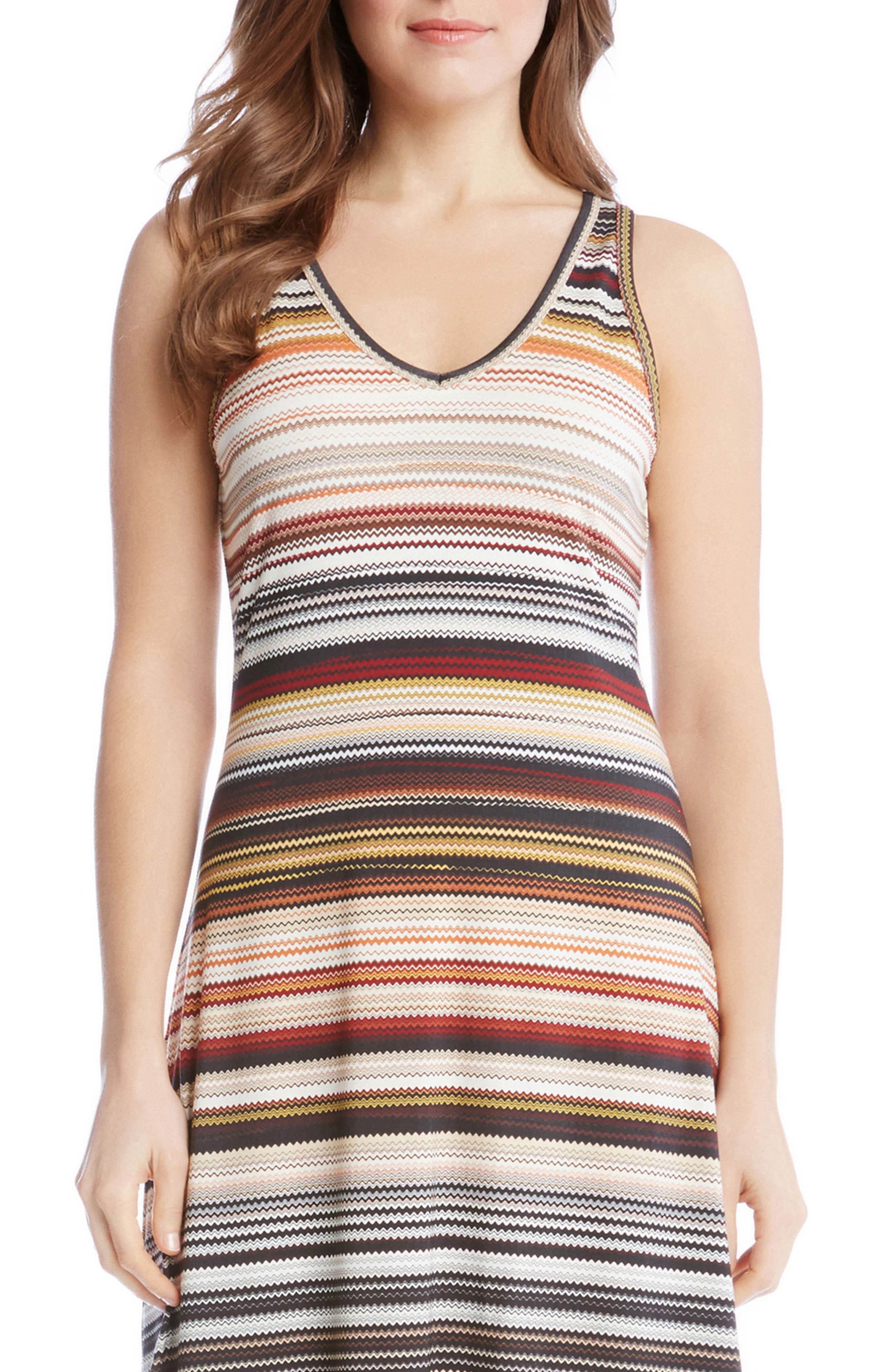 Brigitte Zigzag Stripe Dress,                             Alternate thumbnail 3, color,                             860