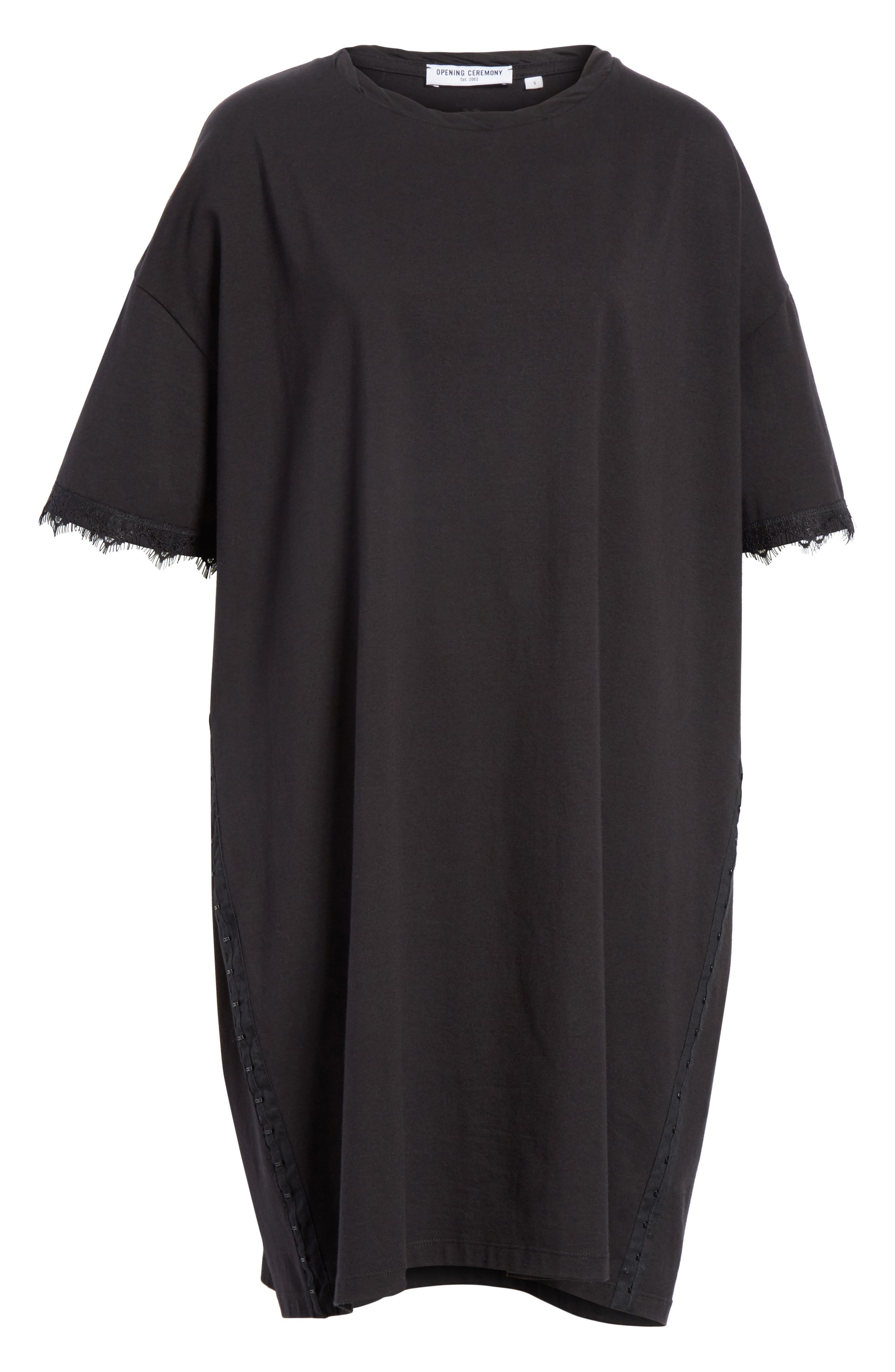 OPENING CEREMONY,                             Hook-and-Eye T-Shirt Dress,                             Alternate thumbnail 7, color,                             014