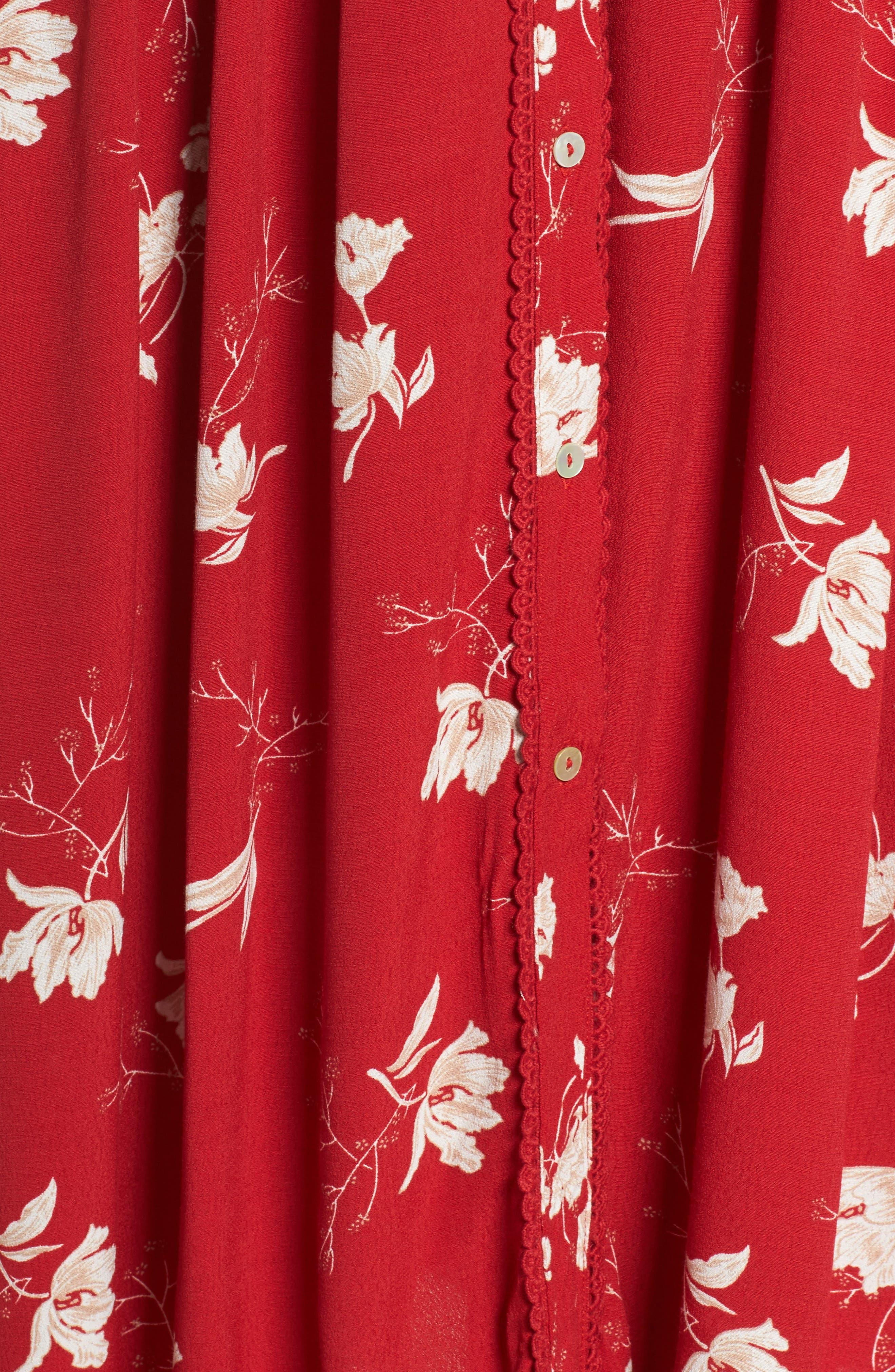 Domingo Midi Dress,                             Alternate thumbnail 5, color,                             617