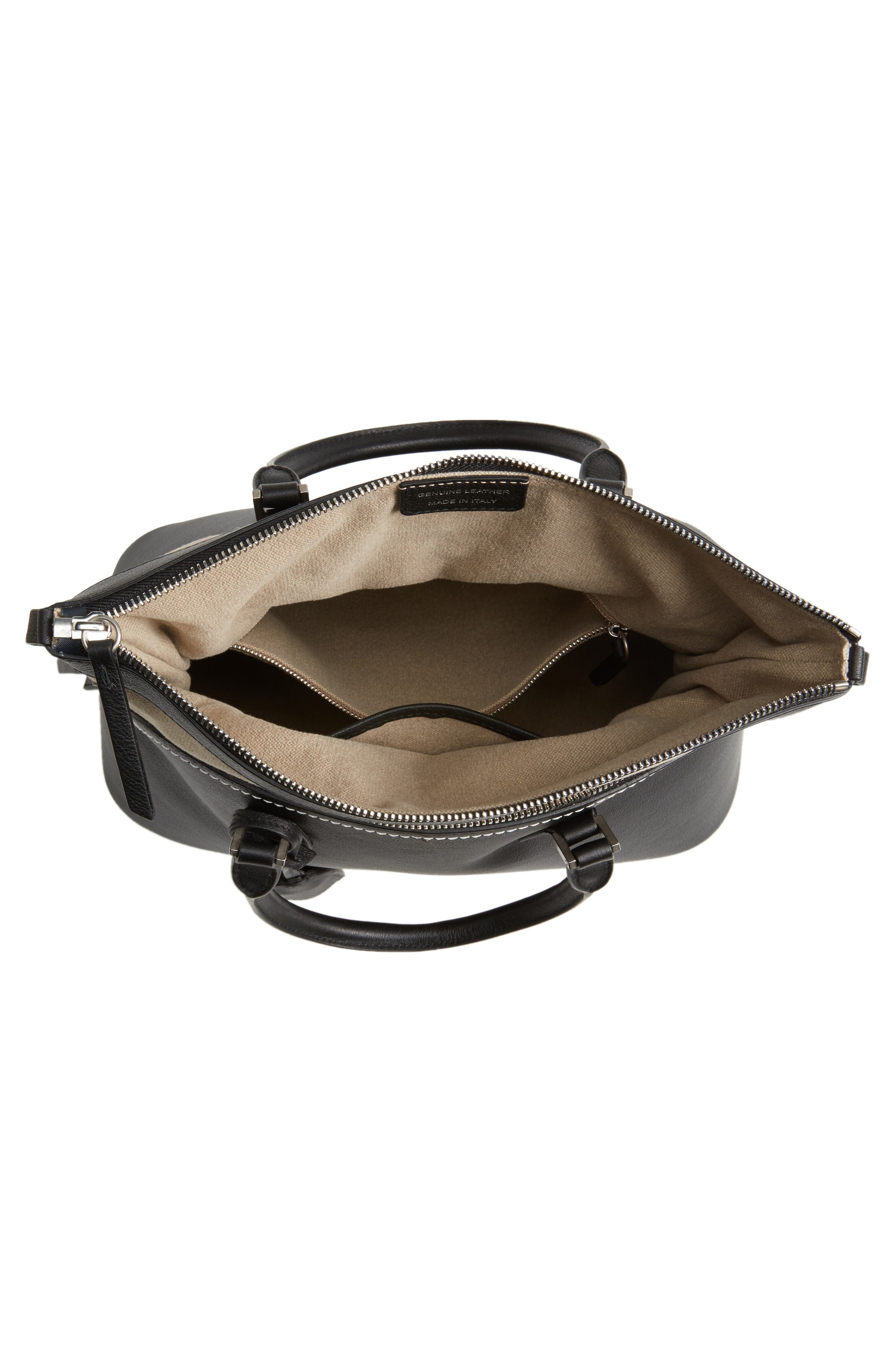 Medium 5AC Leather Handbag,                             Alternate thumbnail 4, color,                             001