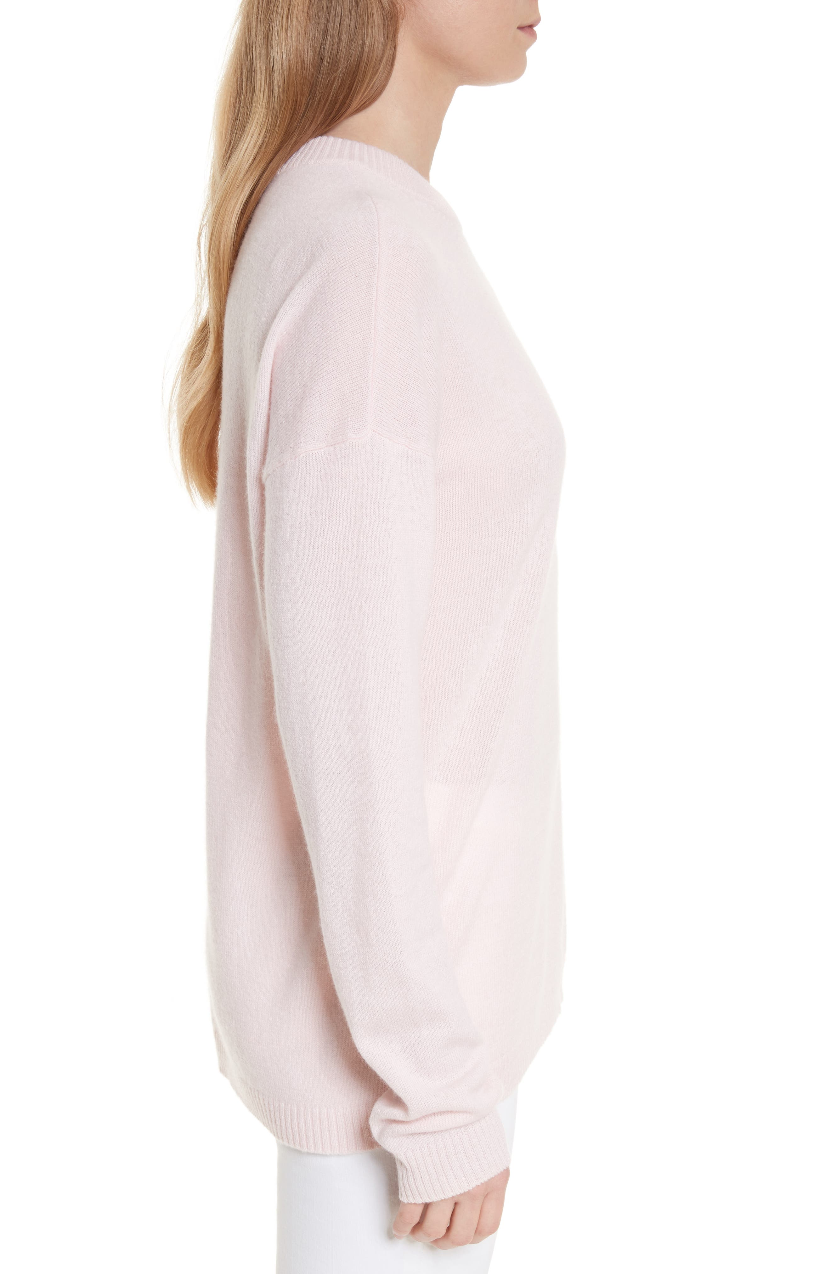 Bryce Oversize Cashmere Sweater,                             Alternate thumbnail 3, color,                             650