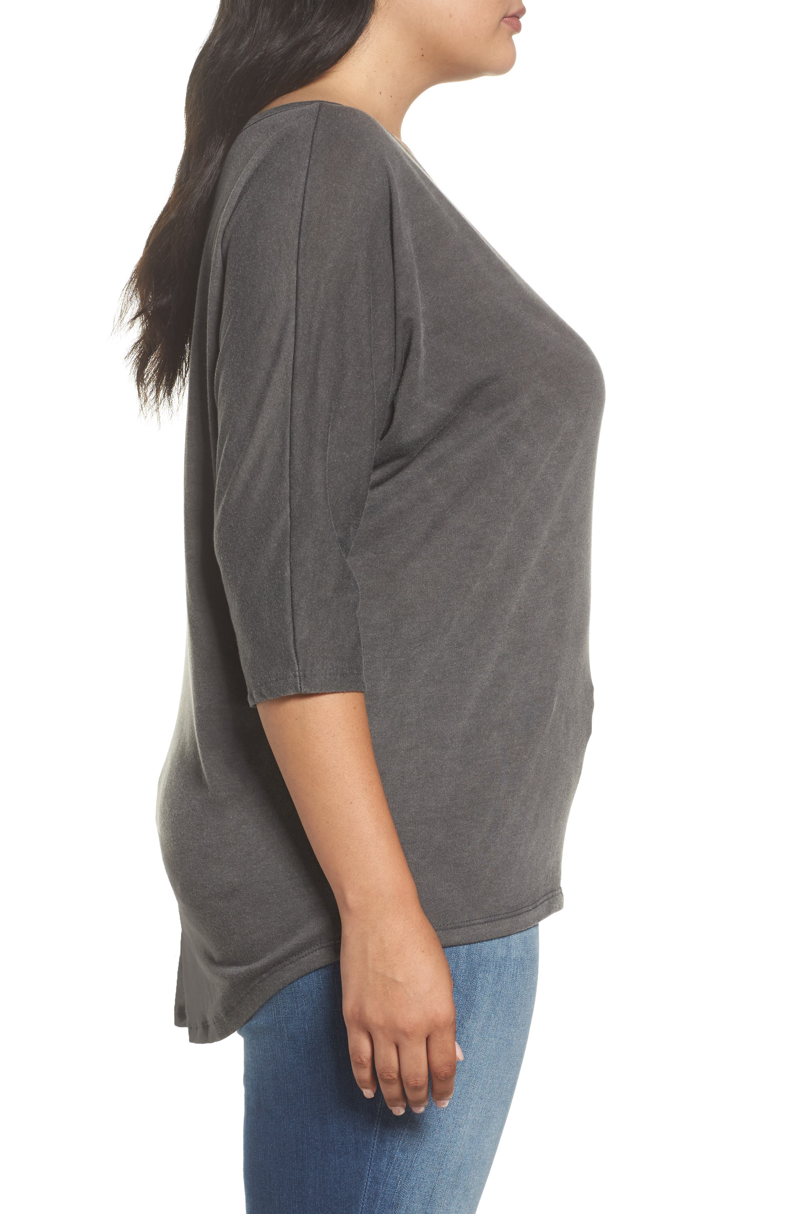 Dolman Sleeve Top,                             Alternate thumbnail 3, color,                             001