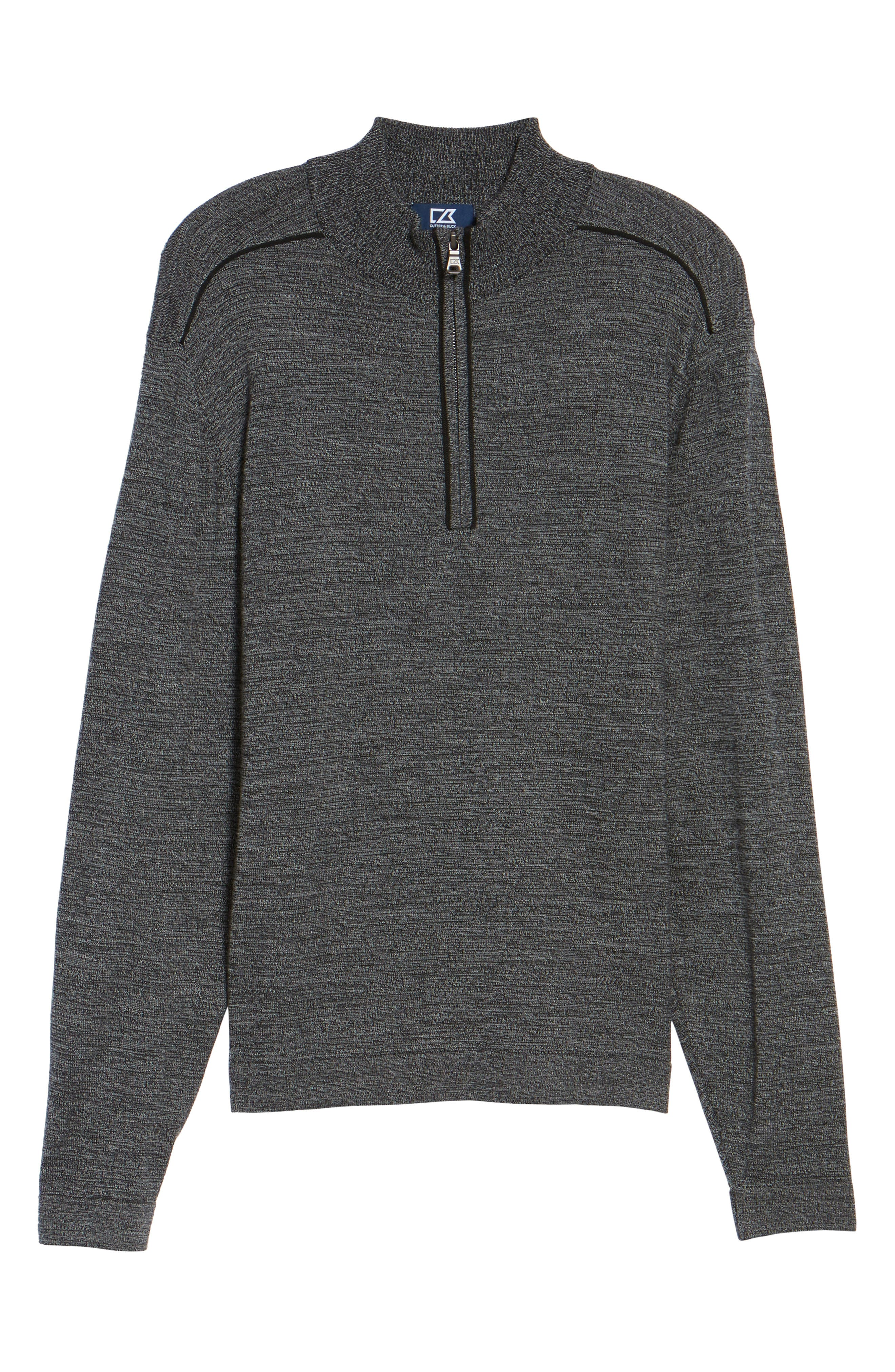 Henry Quarter-Zip Pullover Sweater,                             Alternate thumbnail 6, color,                             001