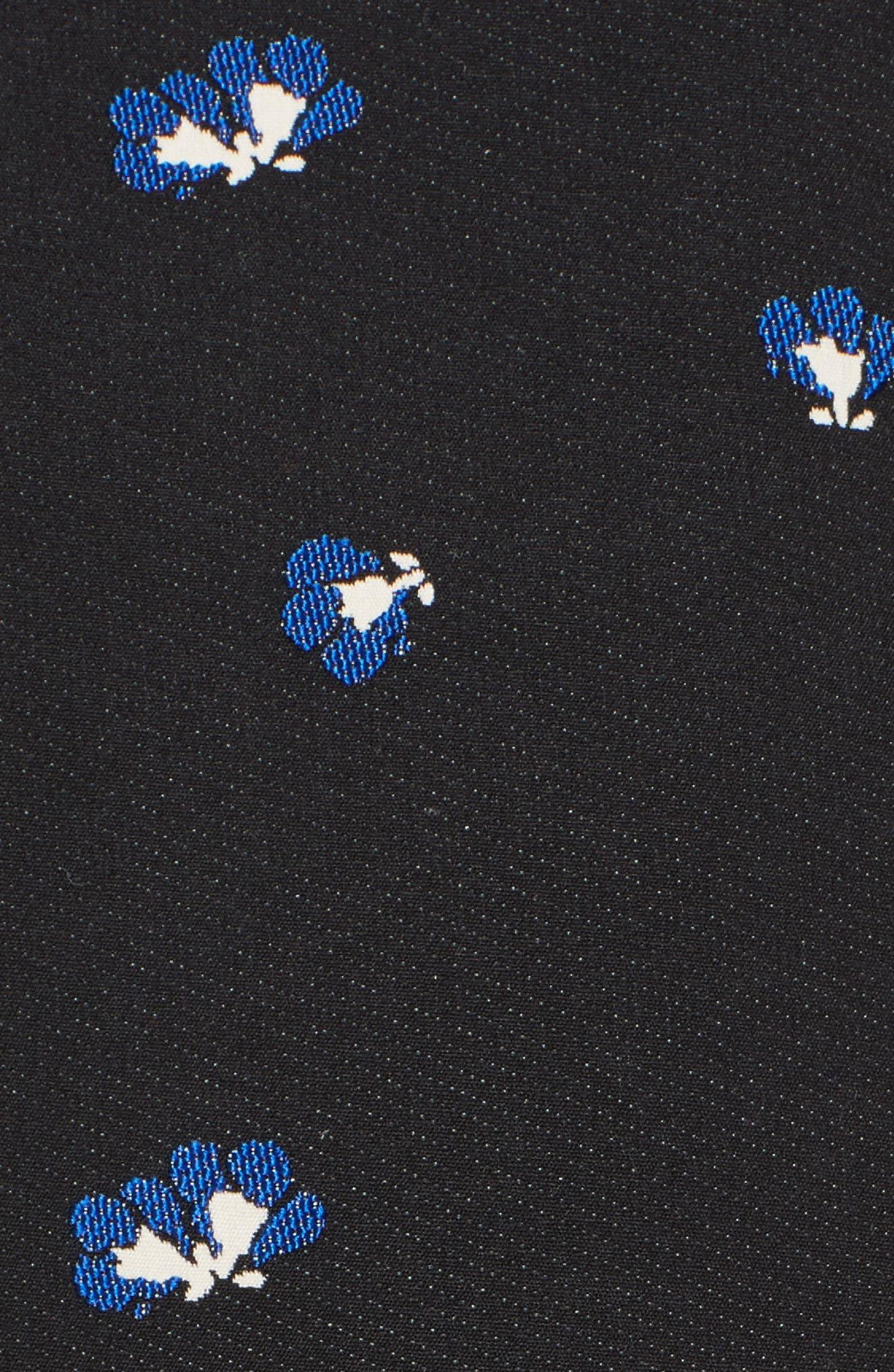 Floral Print Pencil Dress,                             Alternate thumbnail 5, color,                             014