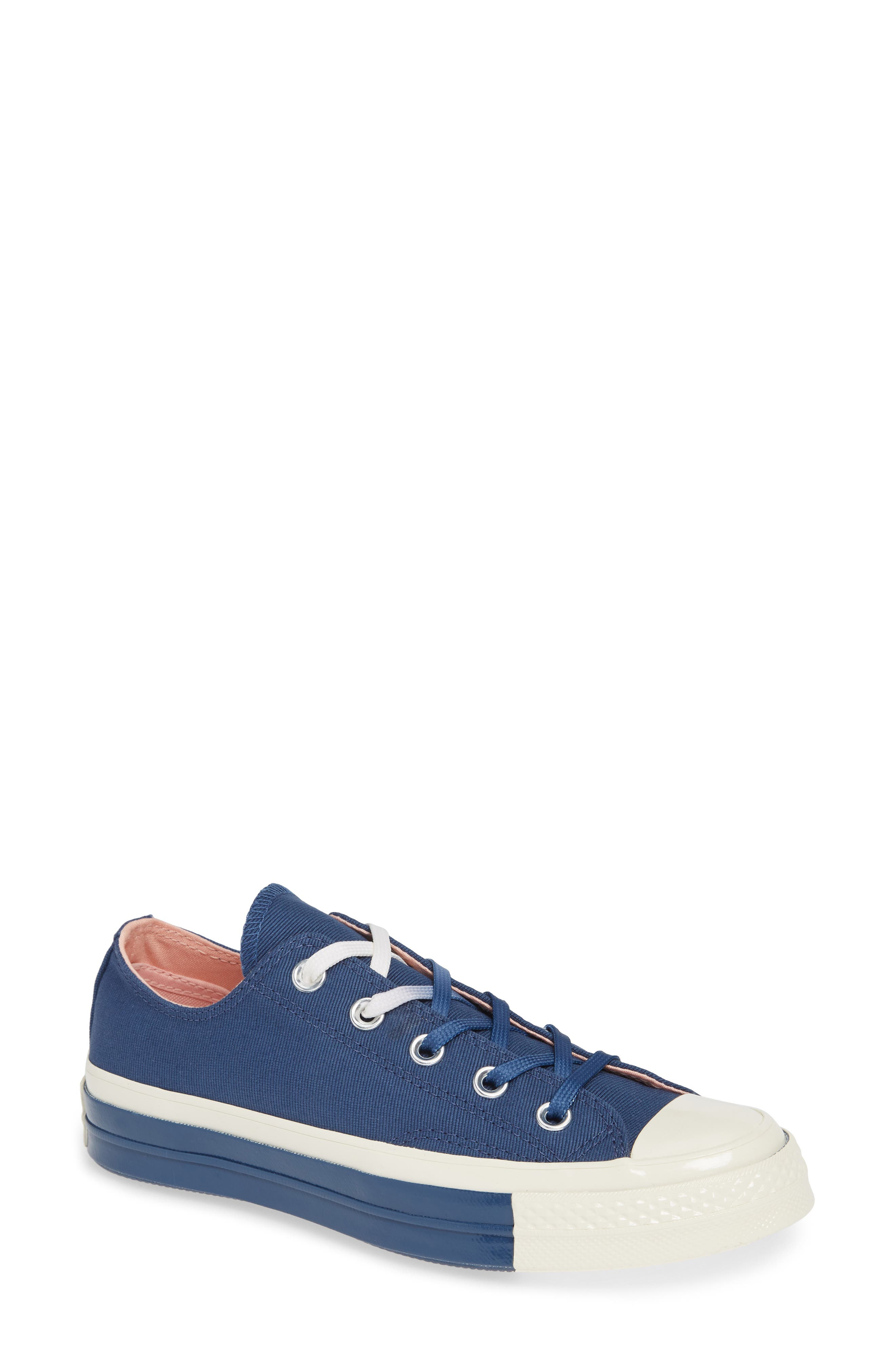 Chuck Taylor<sup>®</sup> All Star<sup>®</sup> 70 Colorblock Low Top Sneaker,                             Main thumbnail 1, color,                             MASON BLUE