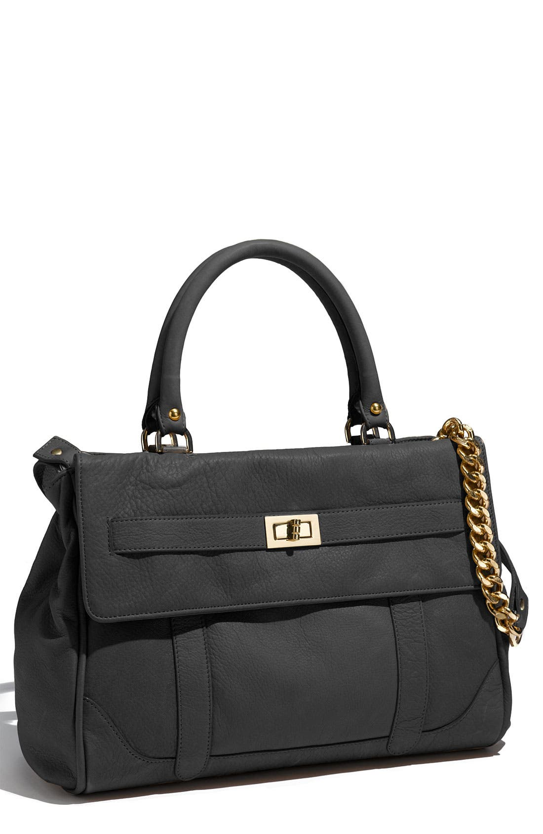 ROCCATELLA,                             'Jane' Belted Leather Satchel,                             Main thumbnail 1, color,                             001