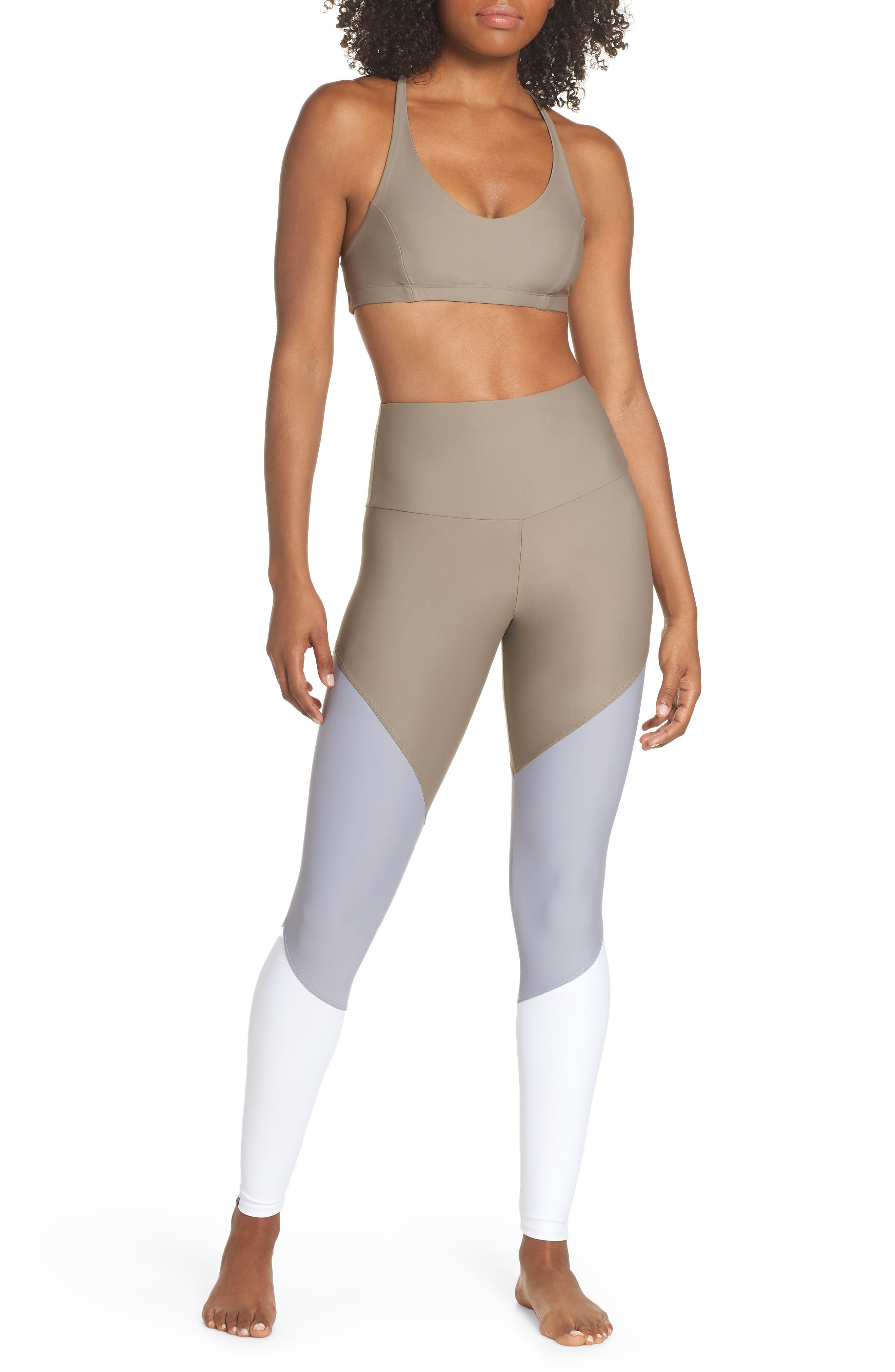 Pyramid Sports Bra,                             Alternate thumbnail 8, color,                             DUST