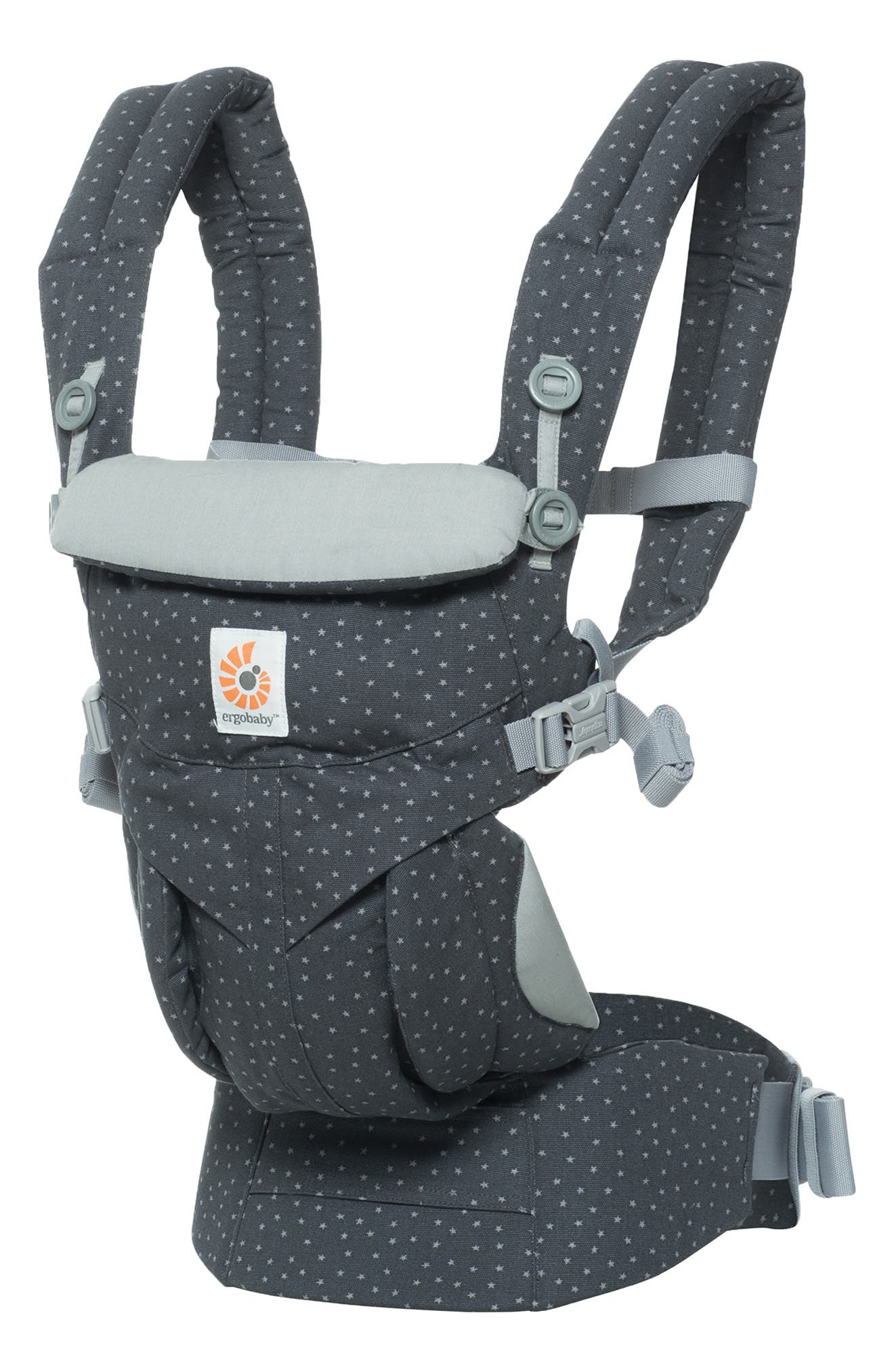 Omni 360 Baby Carrier,                             Main thumbnail 1, color,                             GREY WITH STARS