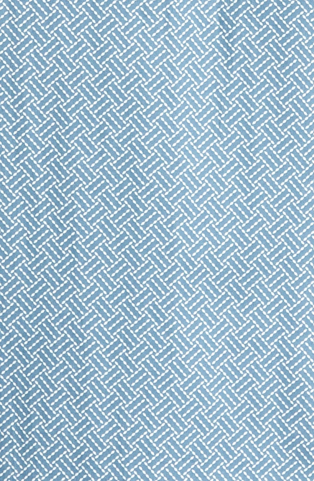 Lashore Basketweave Print Woven Shirt,                             Alternate thumbnail 5, color,                             421