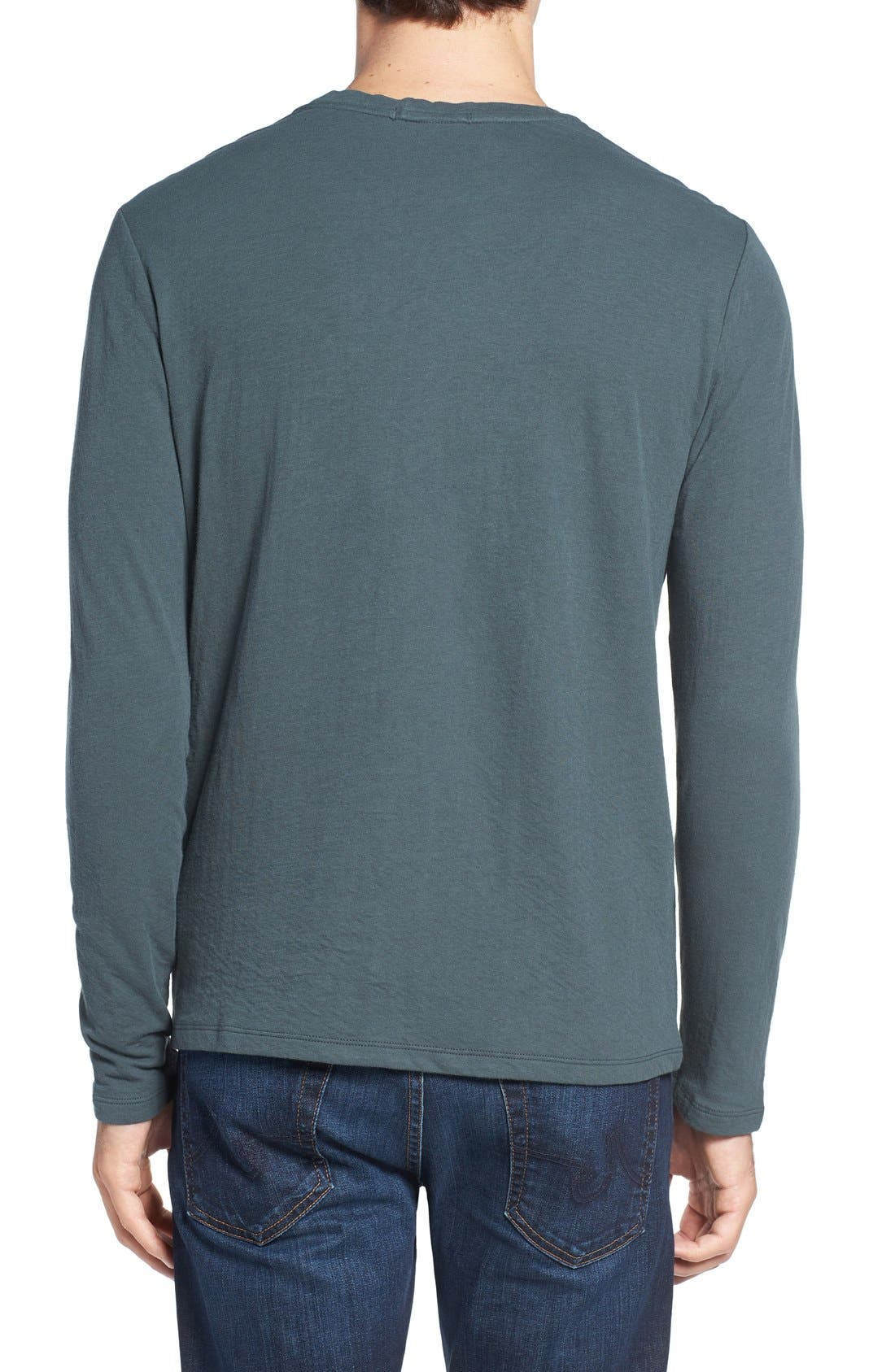 Long Sleeve Crewneck T-Shirt,                             Alternate thumbnail 5, color,