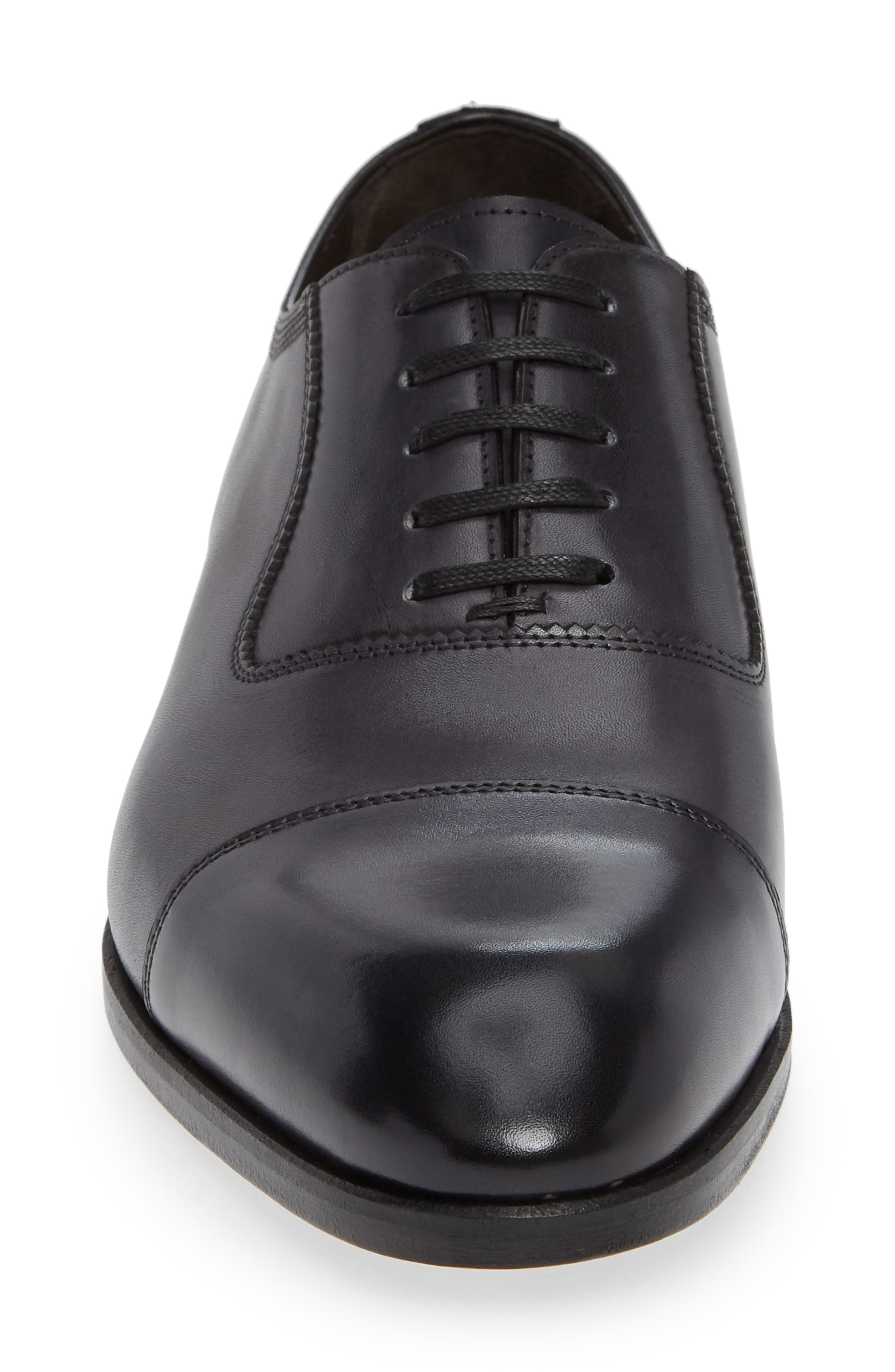 Lucerne Cap Toe Oxford,                             Alternate thumbnail 4, color,                             GREY LEATHER