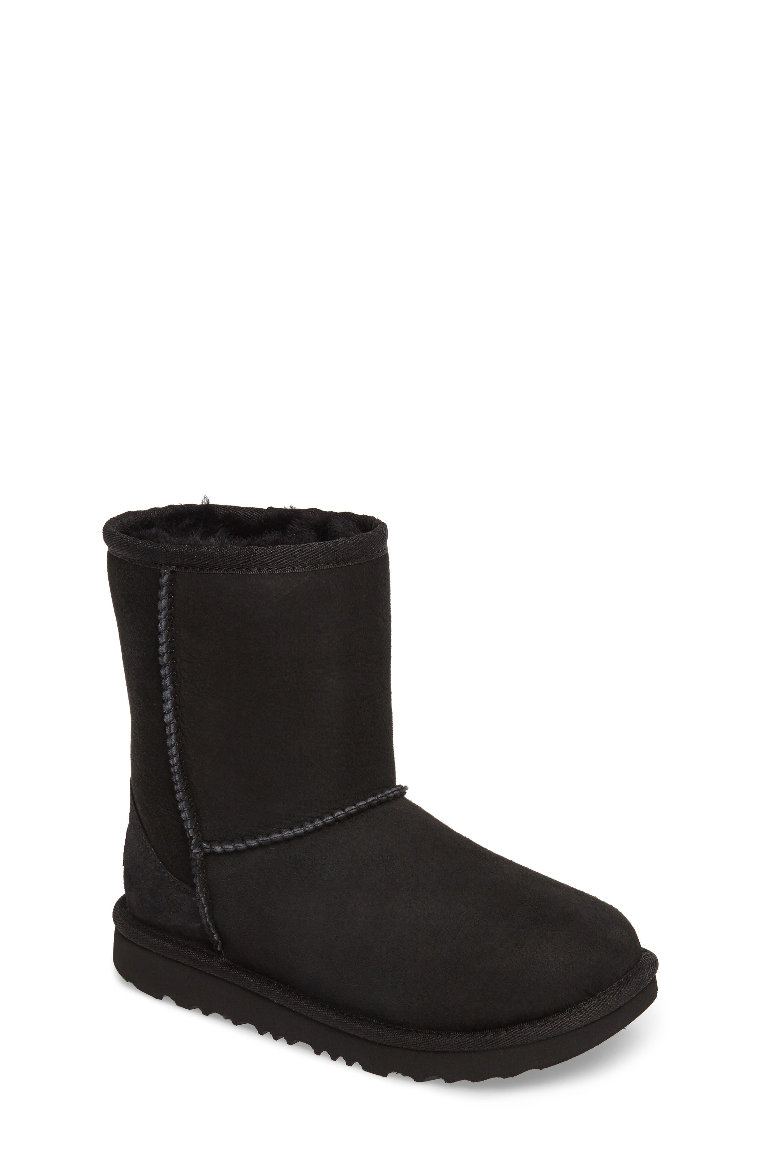 Classic Short II Water Resistant Genuine Shearling Boot,                         Main,                         color, BLACK