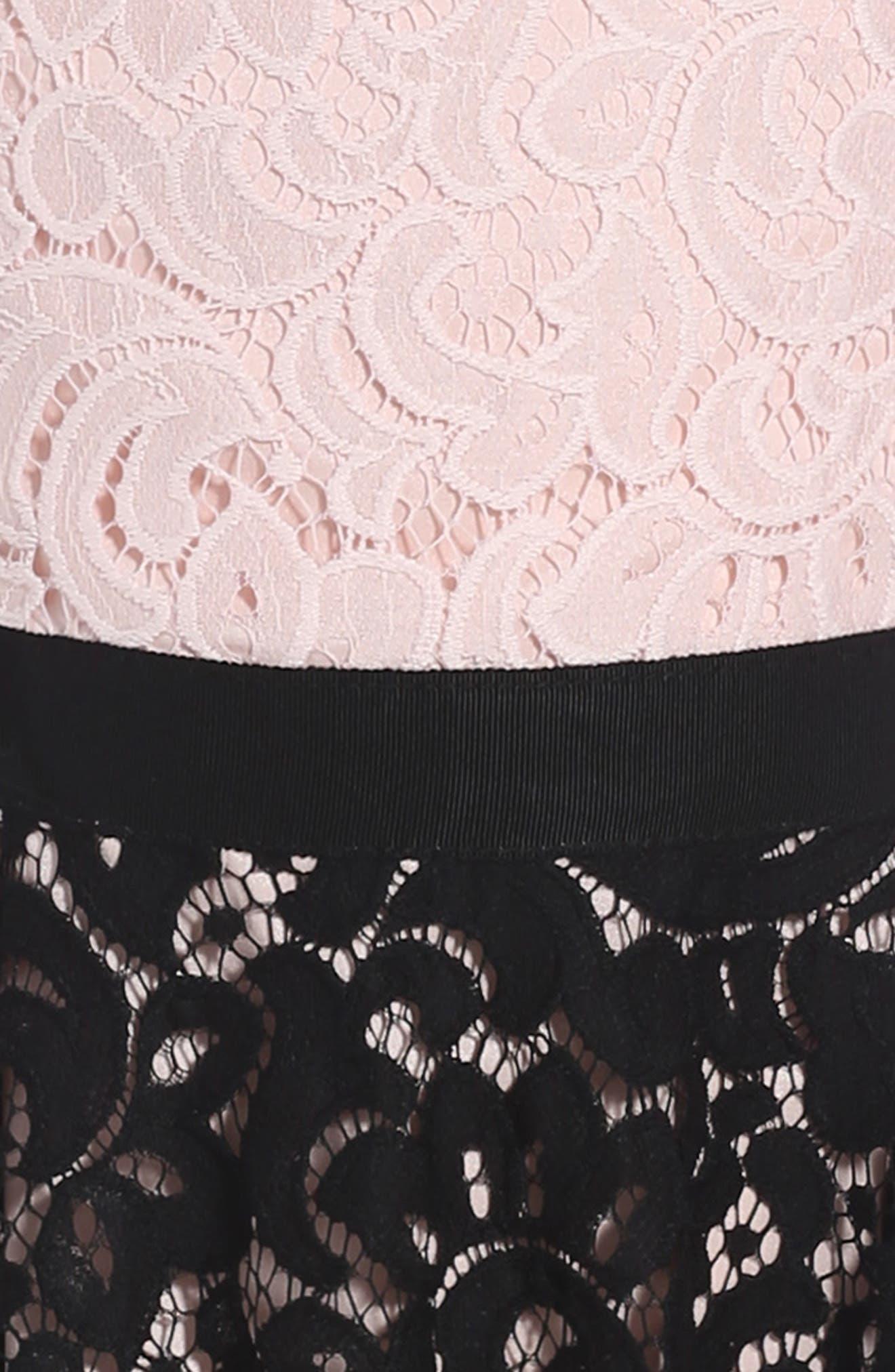 Lace Combo Dress,                             Alternate thumbnail 3, color,