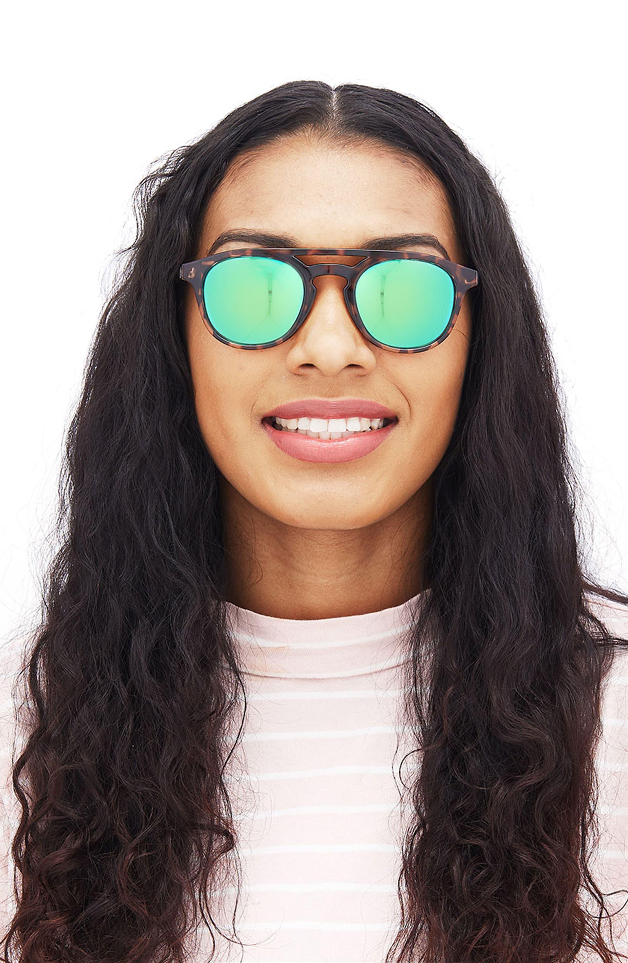 Olema 53mm Polarized Sunglasses,                             Alternate thumbnail 6, color,                             TORTOISE AMBER