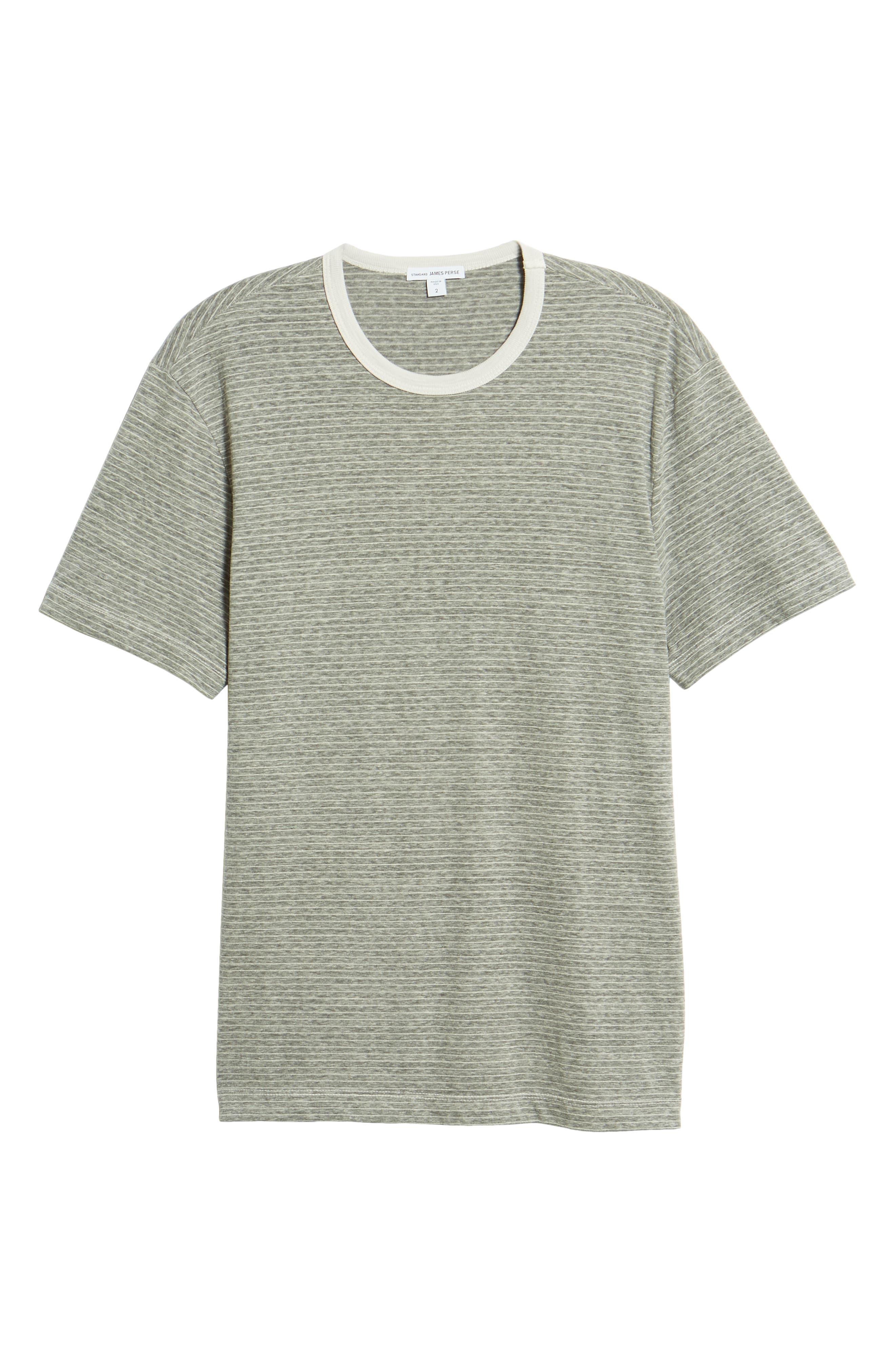 Microstripe Ringer T-Shirt,                             Alternate thumbnail 6, color,                             MEMORY PIGMENT