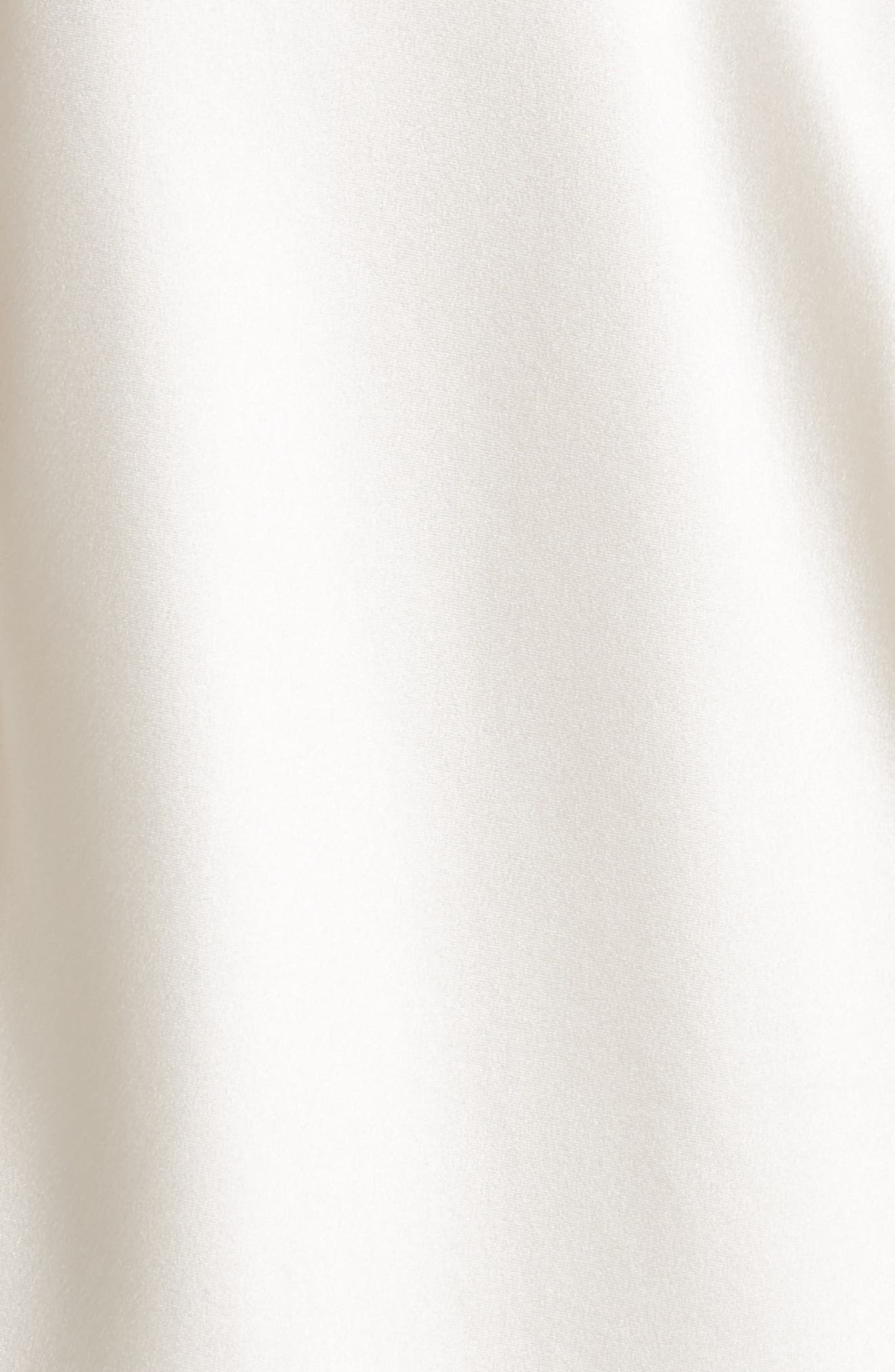 Zipper Detail Lacquered Silk Slipdress,                             Alternate thumbnail 5, color,                             181