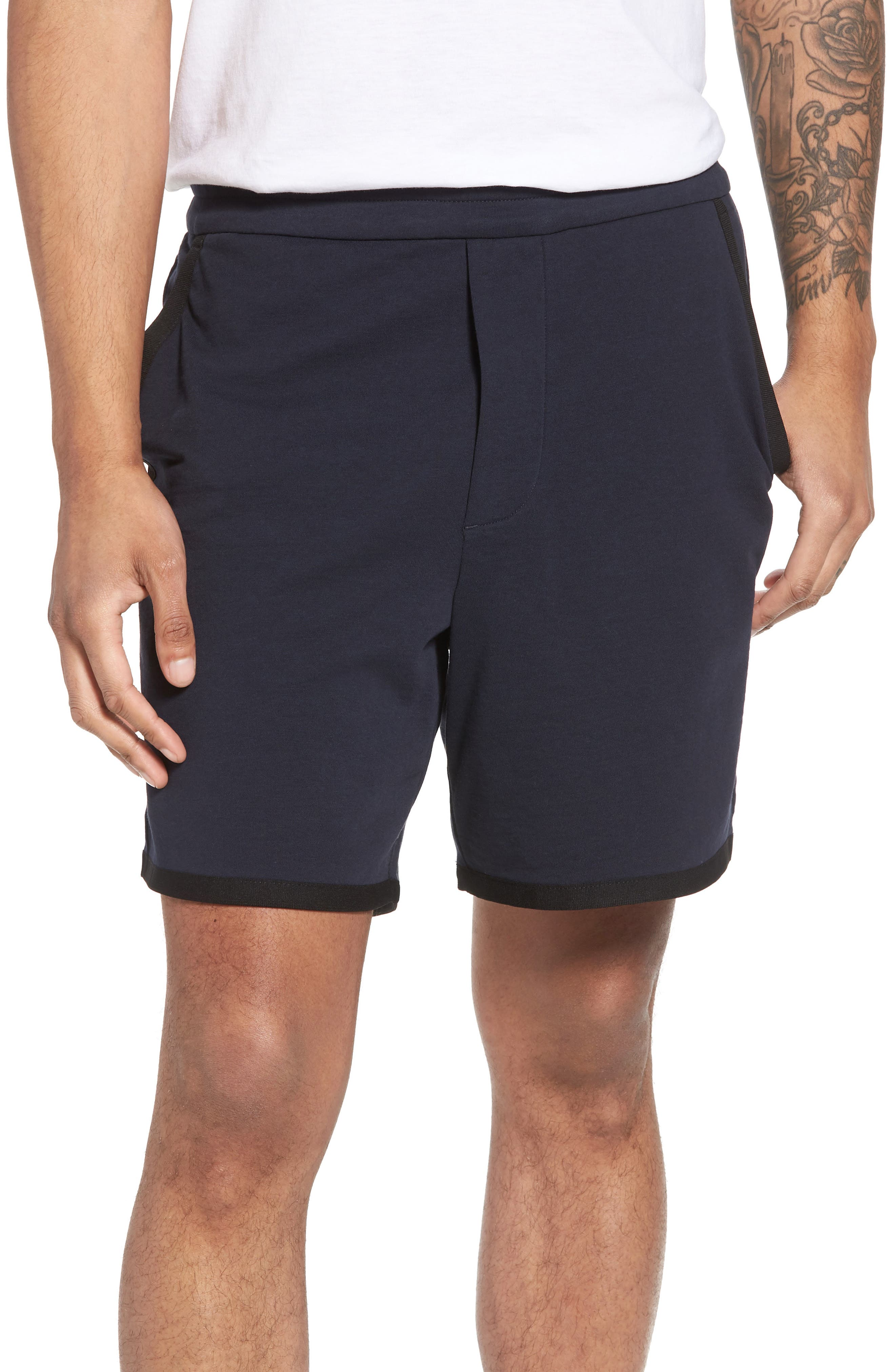 Taped Slim Fit Track Shorts,                             Main thumbnail 2, color,