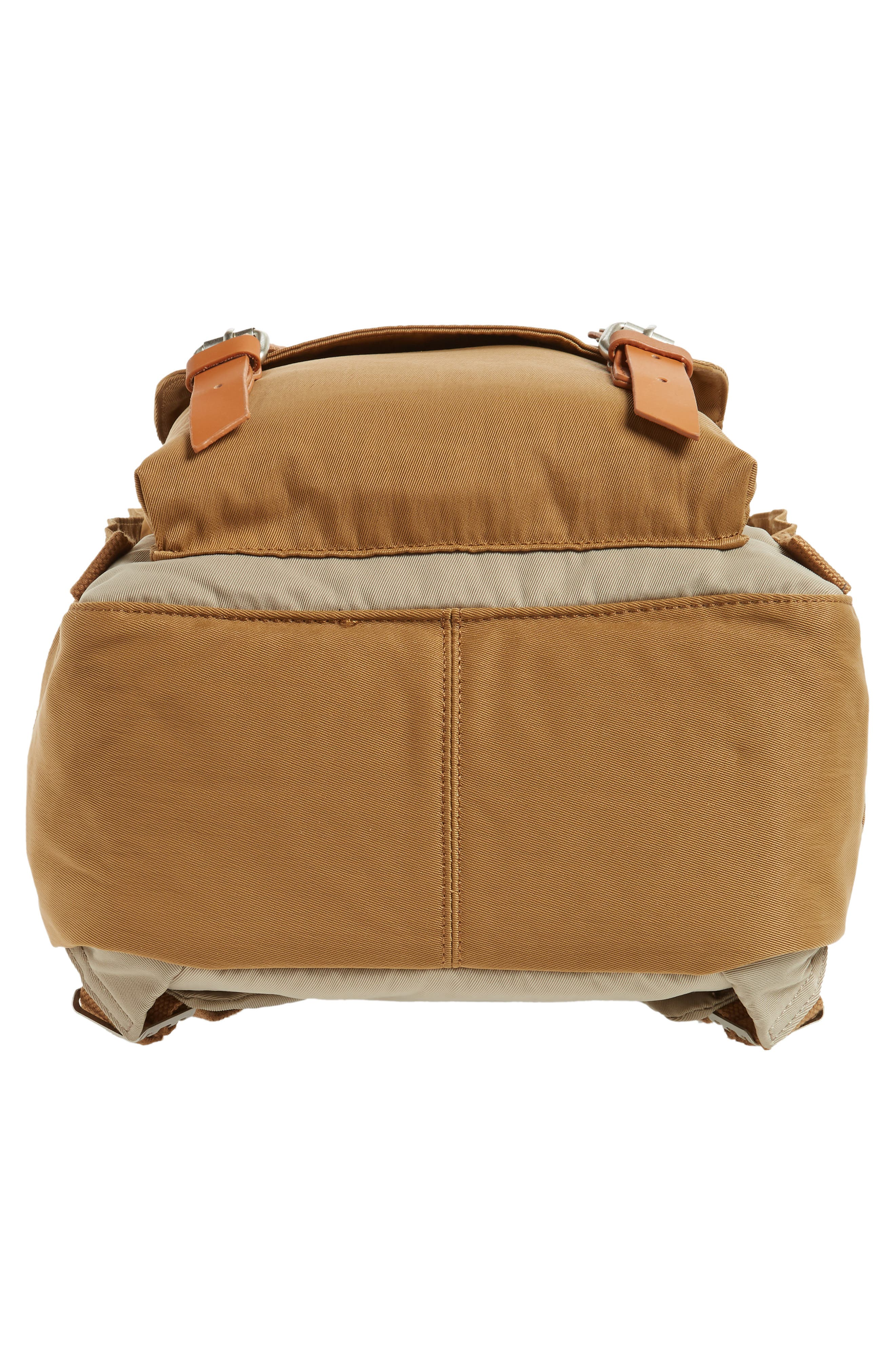Macaroon Colorblock Backpack,                             Alternate thumbnail 6, color,                             BEIGE/ KHAKI