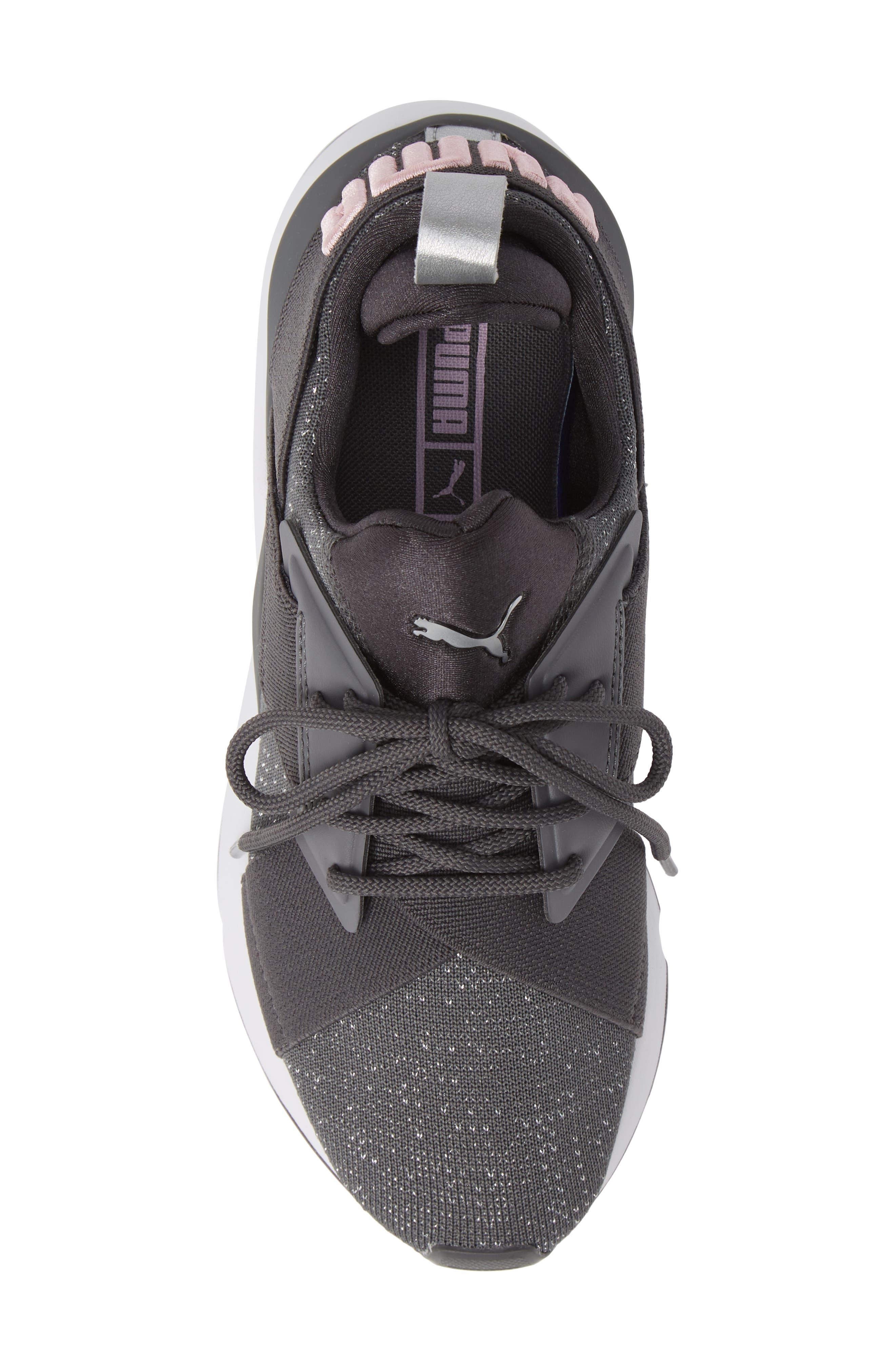 Muse Knit Sneaker,                             Alternate thumbnail 5, color,                             IRON GATE