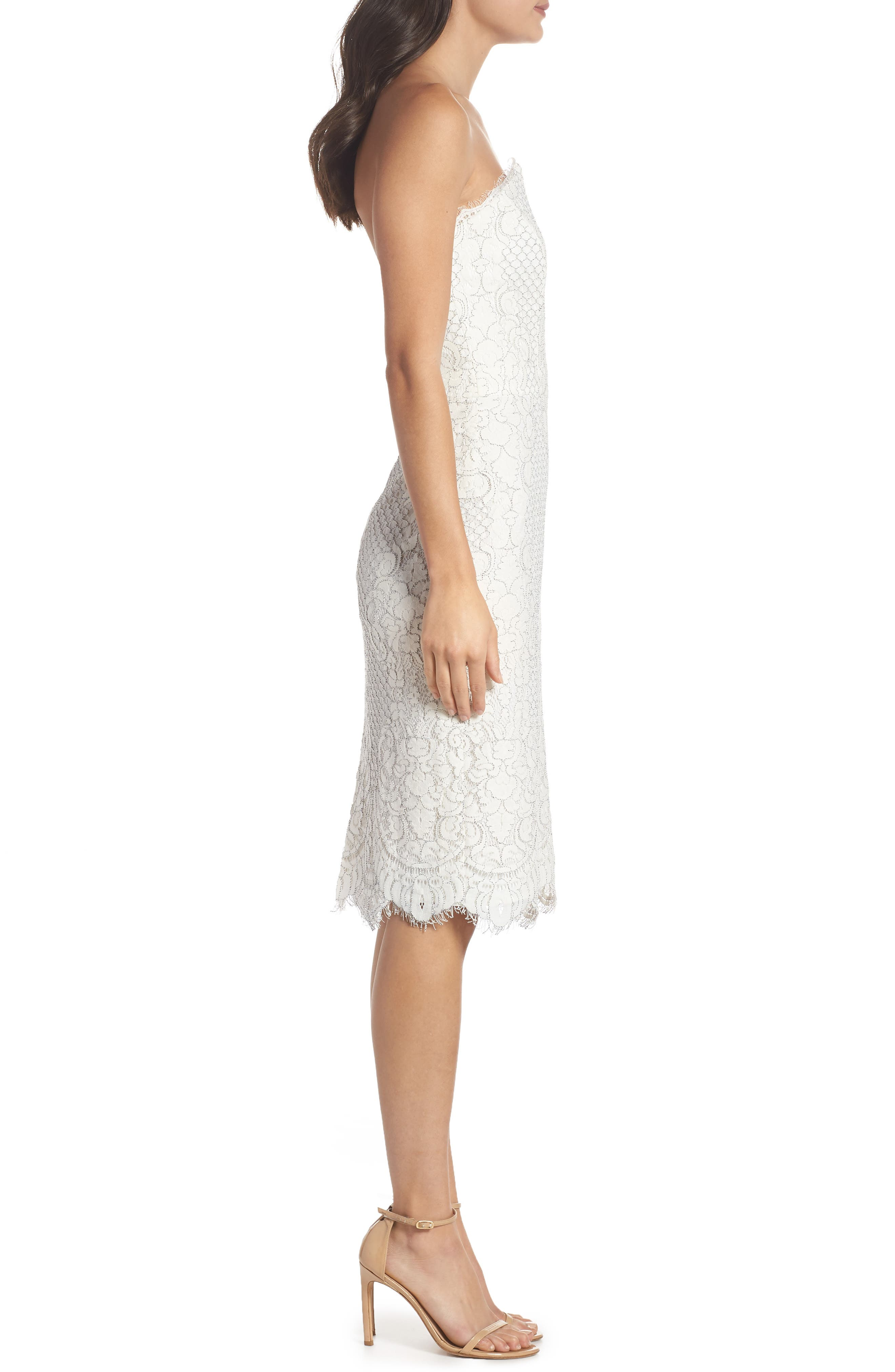 HARLYN,                             Strapless Lace Cocktail Dress,                             Alternate thumbnail 4, color,                             902