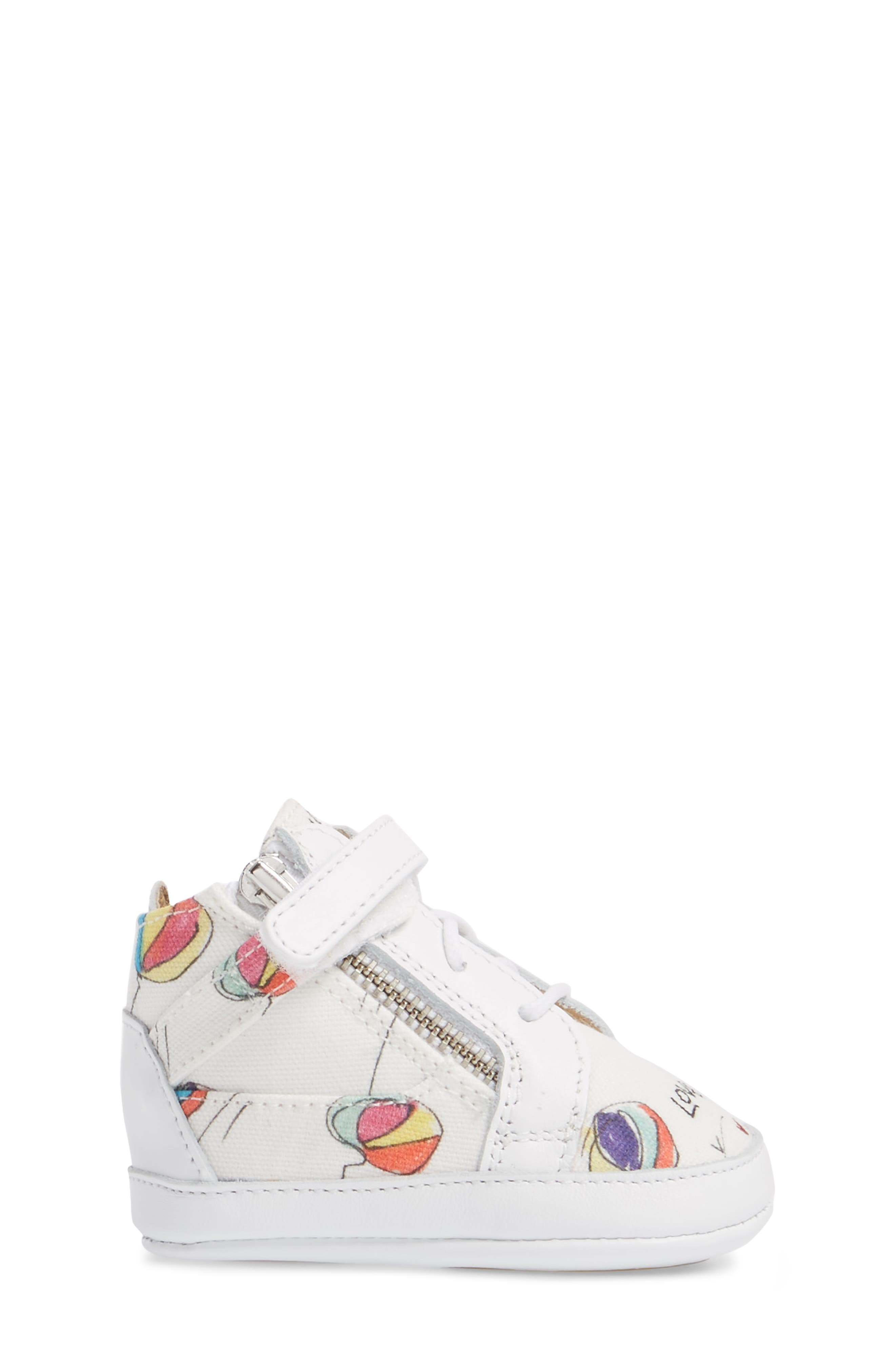 Culla London High Top Crib Sneaker,                             Alternate thumbnail 8, color,