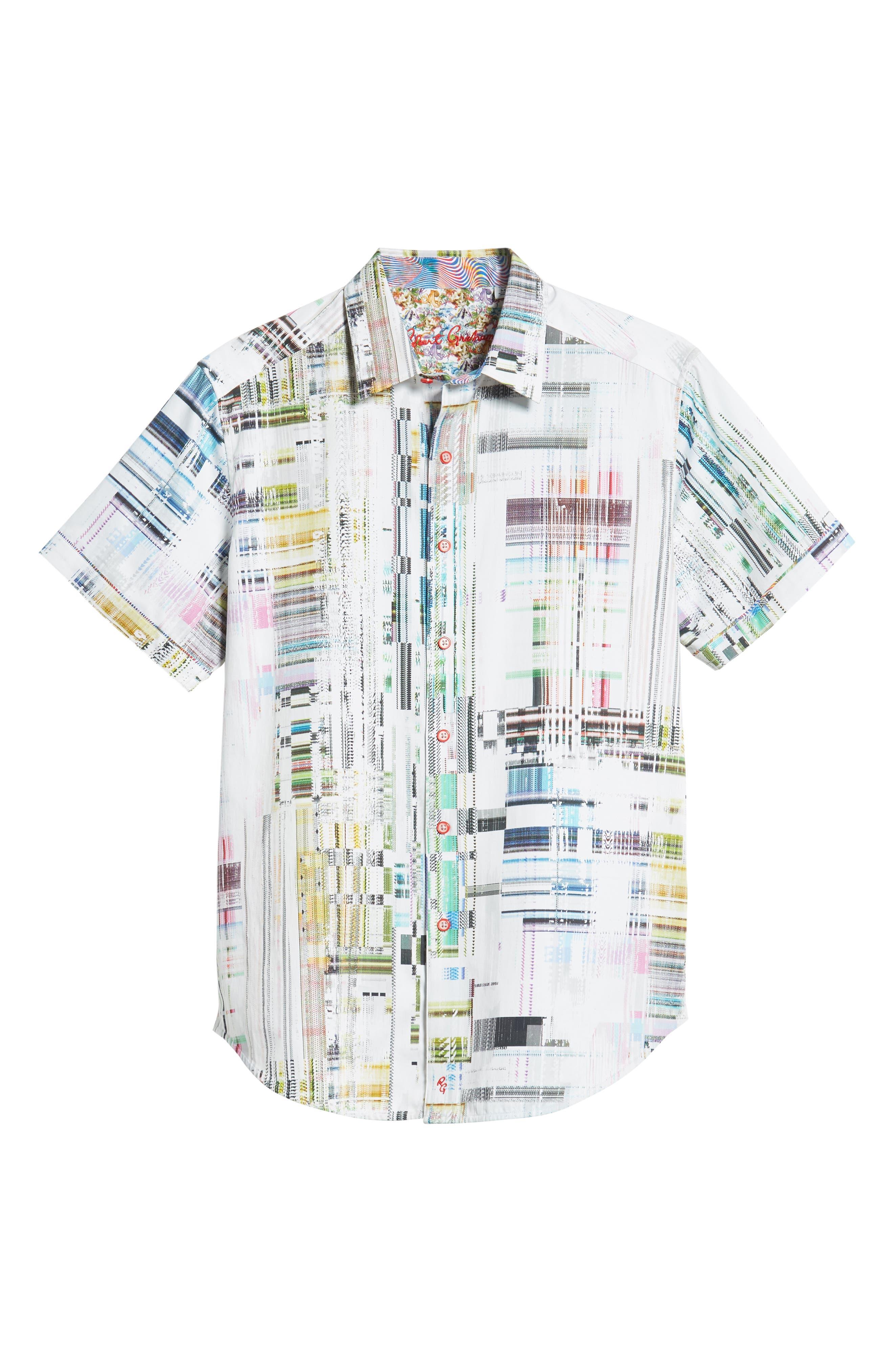 Paracels Classic Fit Sport Shirt,                             Alternate thumbnail 5, color,                             MULTI
