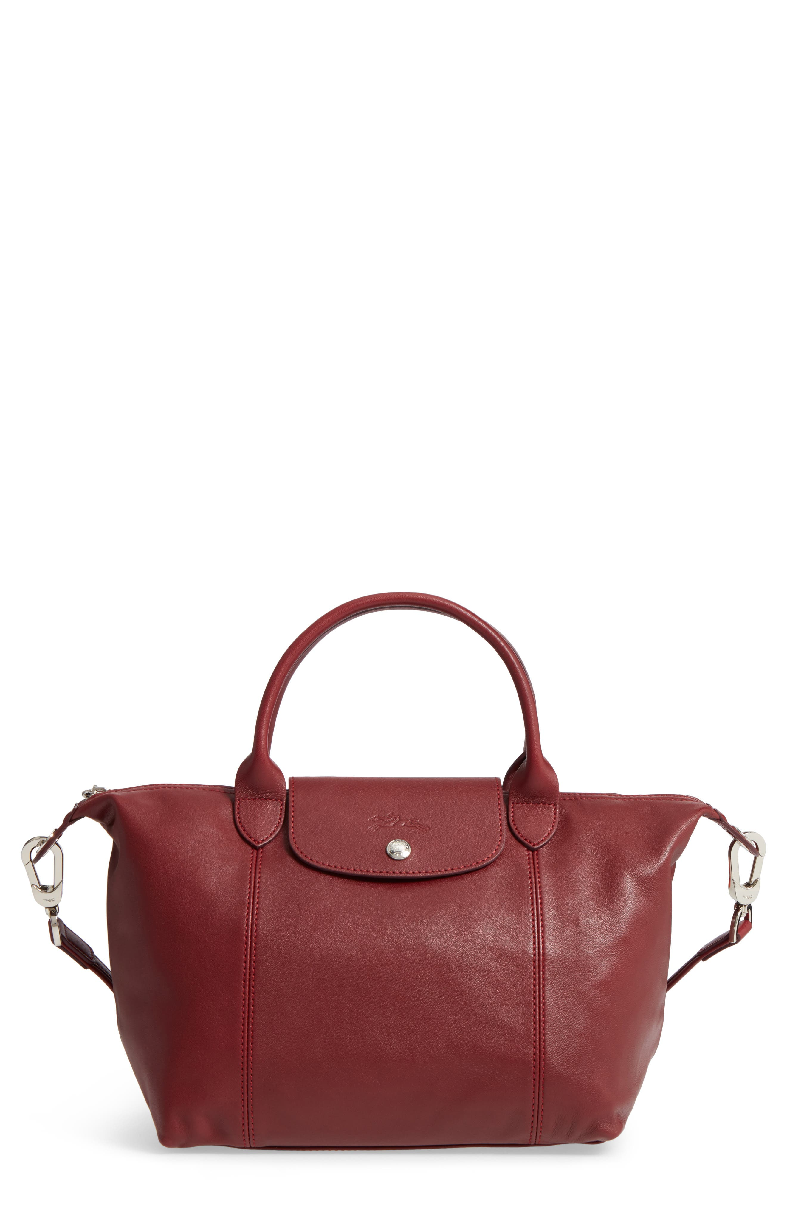 Small 'Le Pliage Cuir' Leather Top Handle Tote,                             Main thumbnail 19, color,
