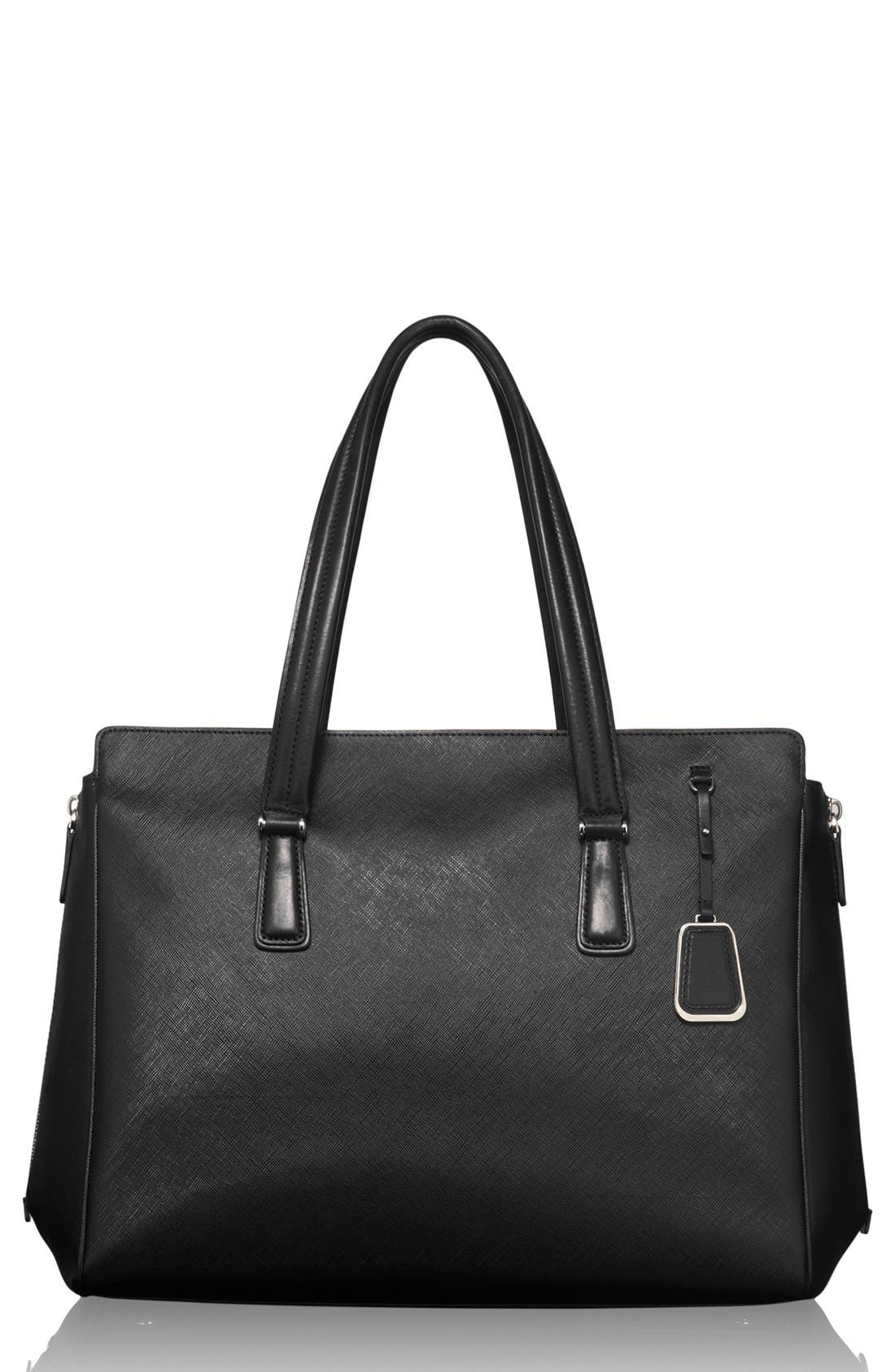 'Sinclair - Large Lynn' Coated Canvas Tote,                             Main thumbnail 1, color,                             001