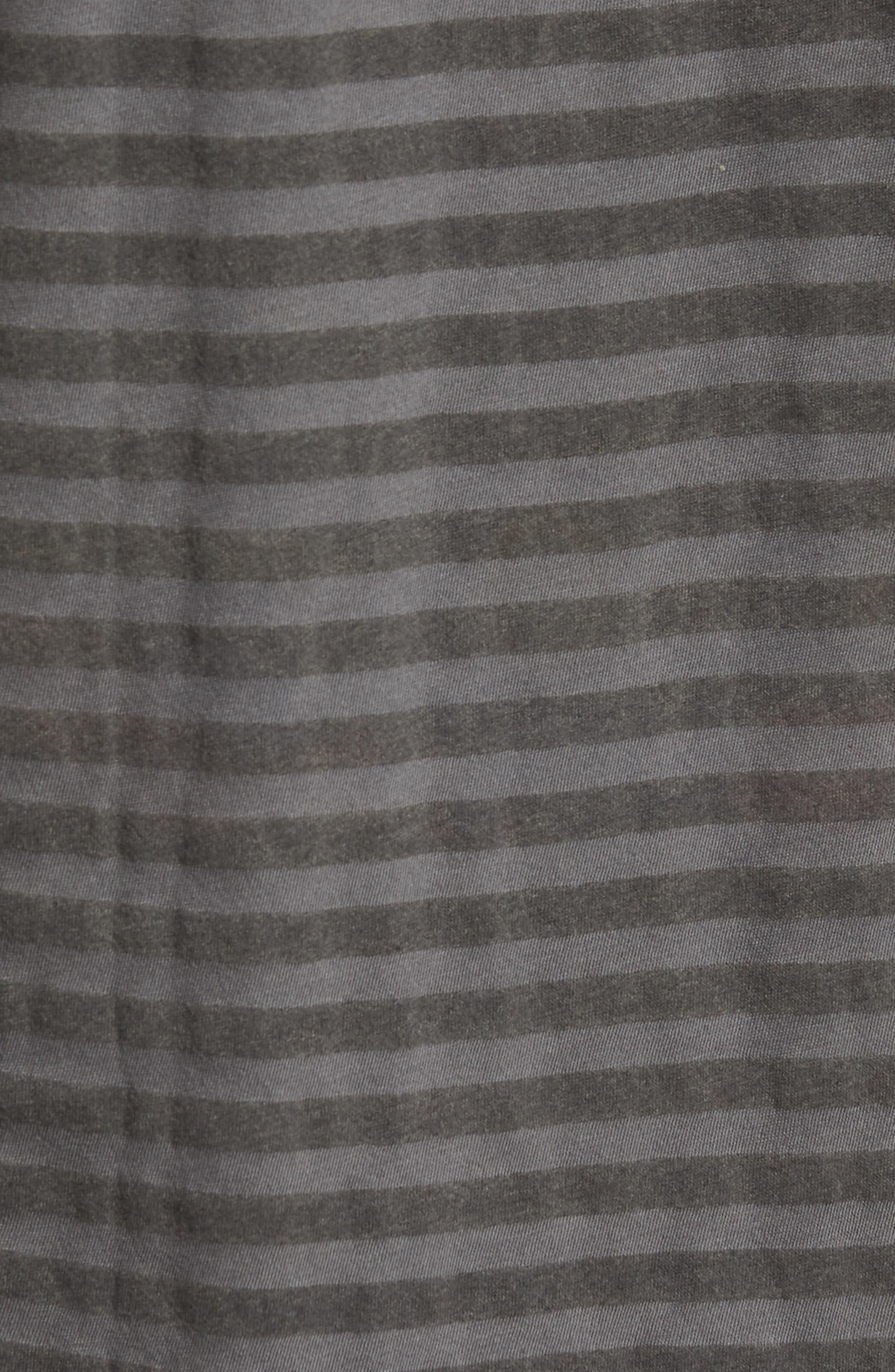 1CM Stripe T-Shirt,                             Alternate thumbnail 5, color,                             KHAKI/ BLACK STRIPE