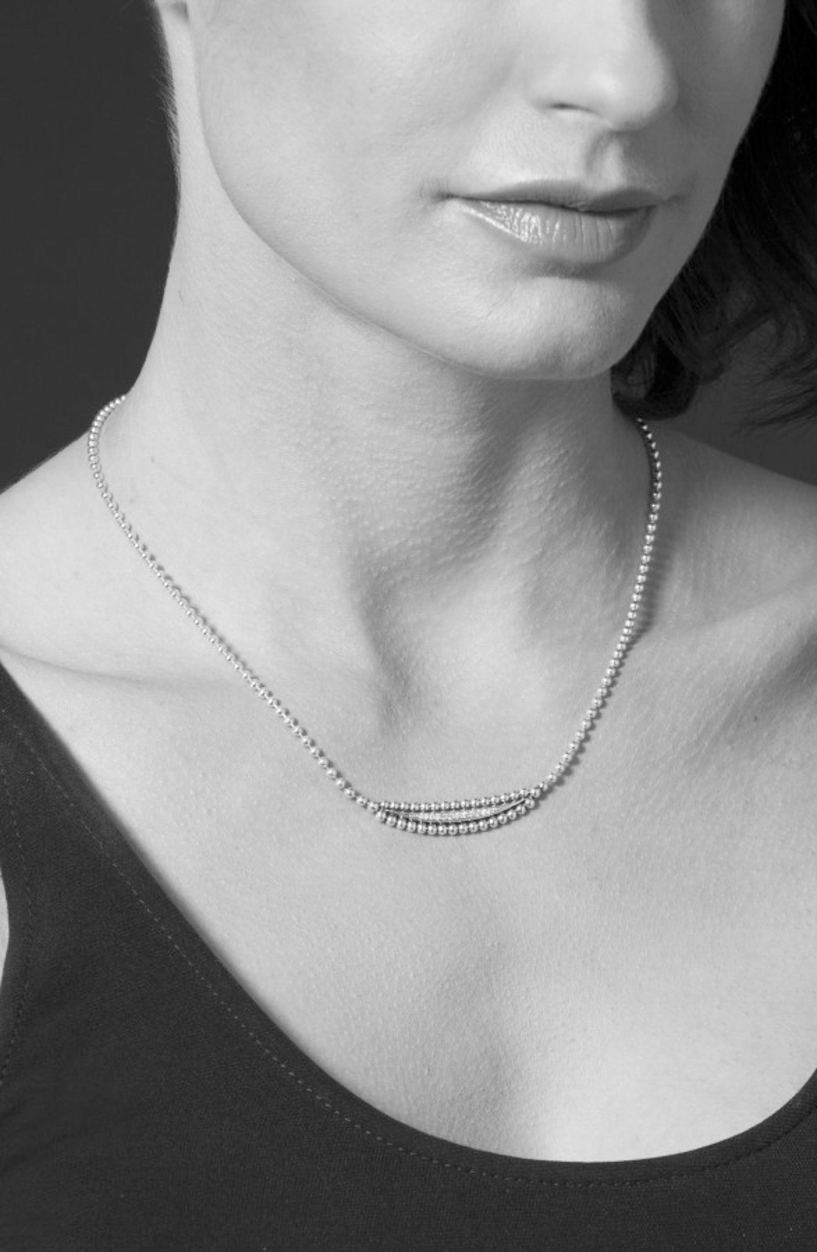 Caviar Spark Diamond Necklace,                             Alternate thumbnail 2, color,                             SILVER/ DIAMOND