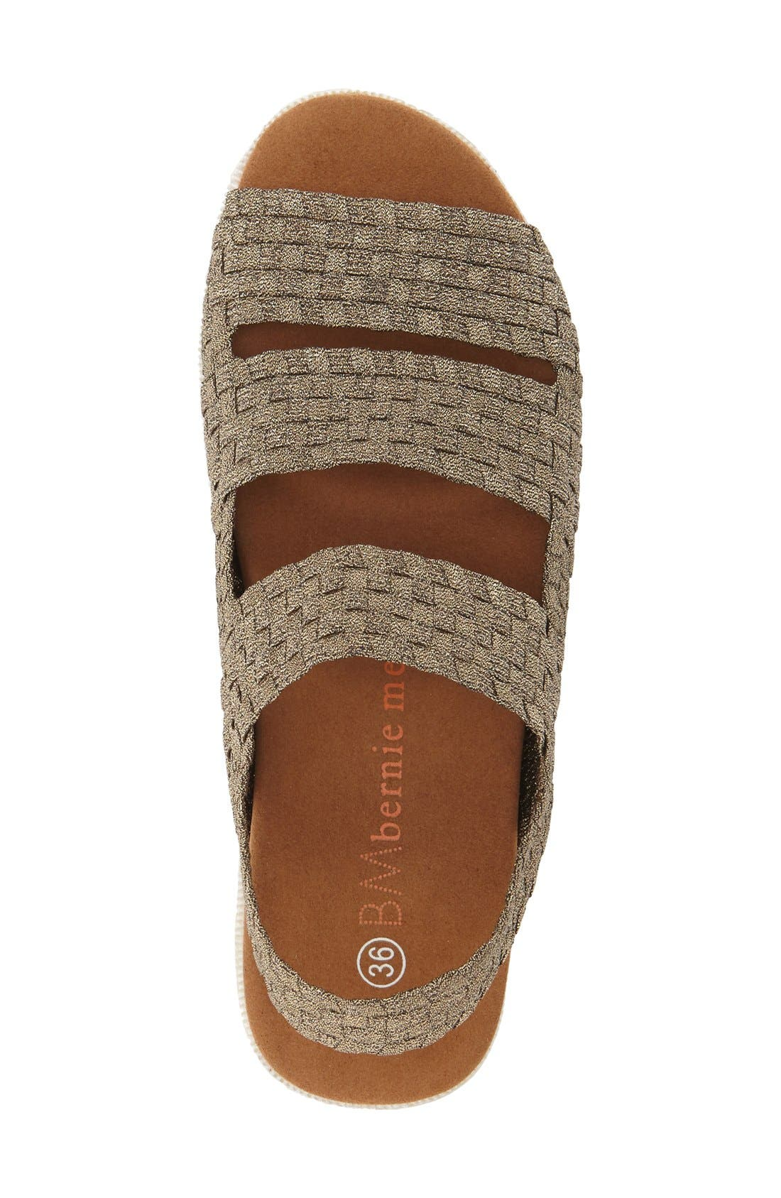 'Crisp' Woven Platform Sandal,                             Alternate thumbnail 3, color,                             BRONZE FABRIC