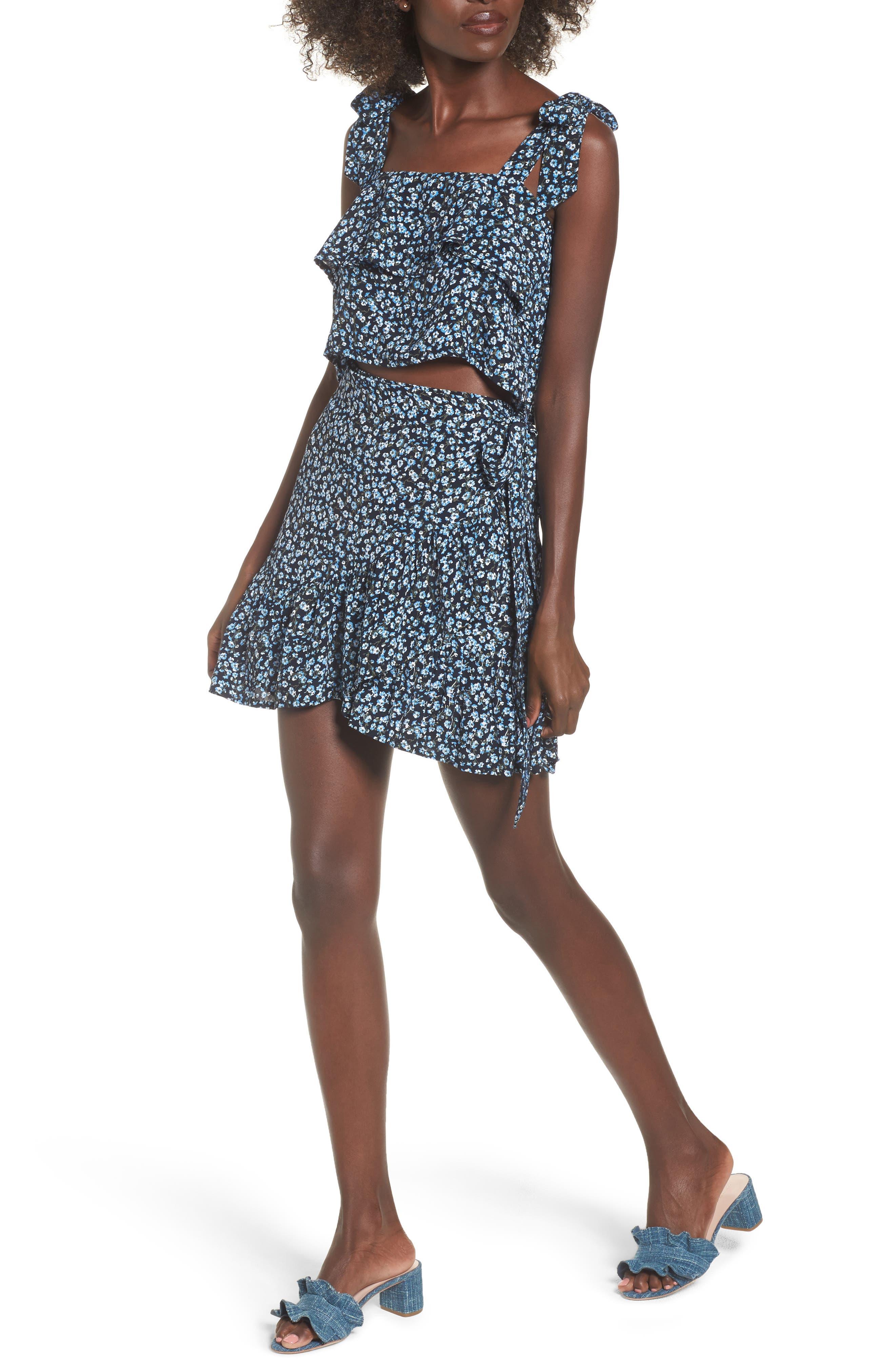 Gilda Floral Skirt,                             Alternate thumbnail 7, color,