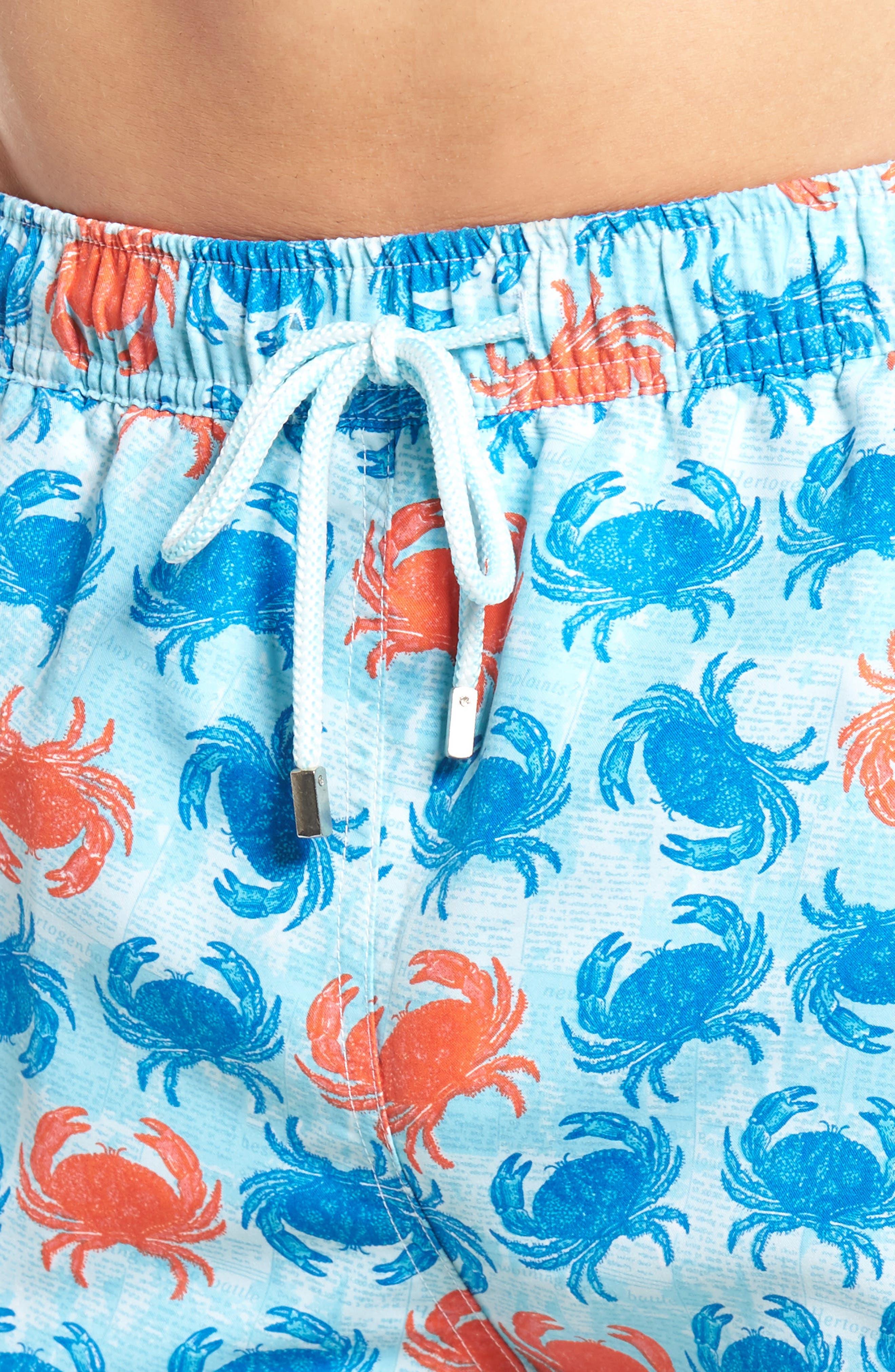Crab Shack Swim Shorts,                             Alternate thumbnail 4, color,                             424