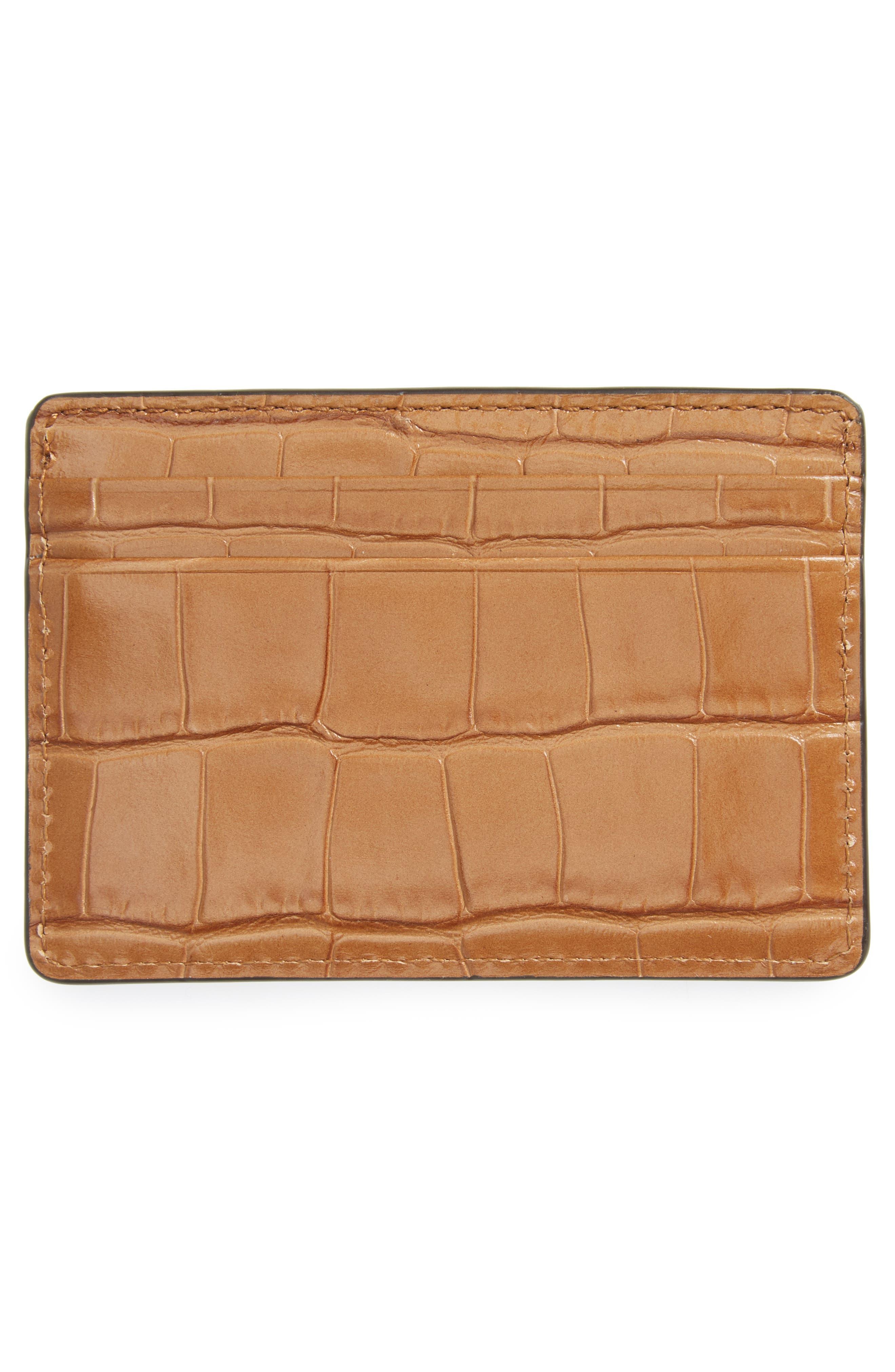 Money Pieces Leather Card Case,                             Alternate thumbnail 2, color,                             232